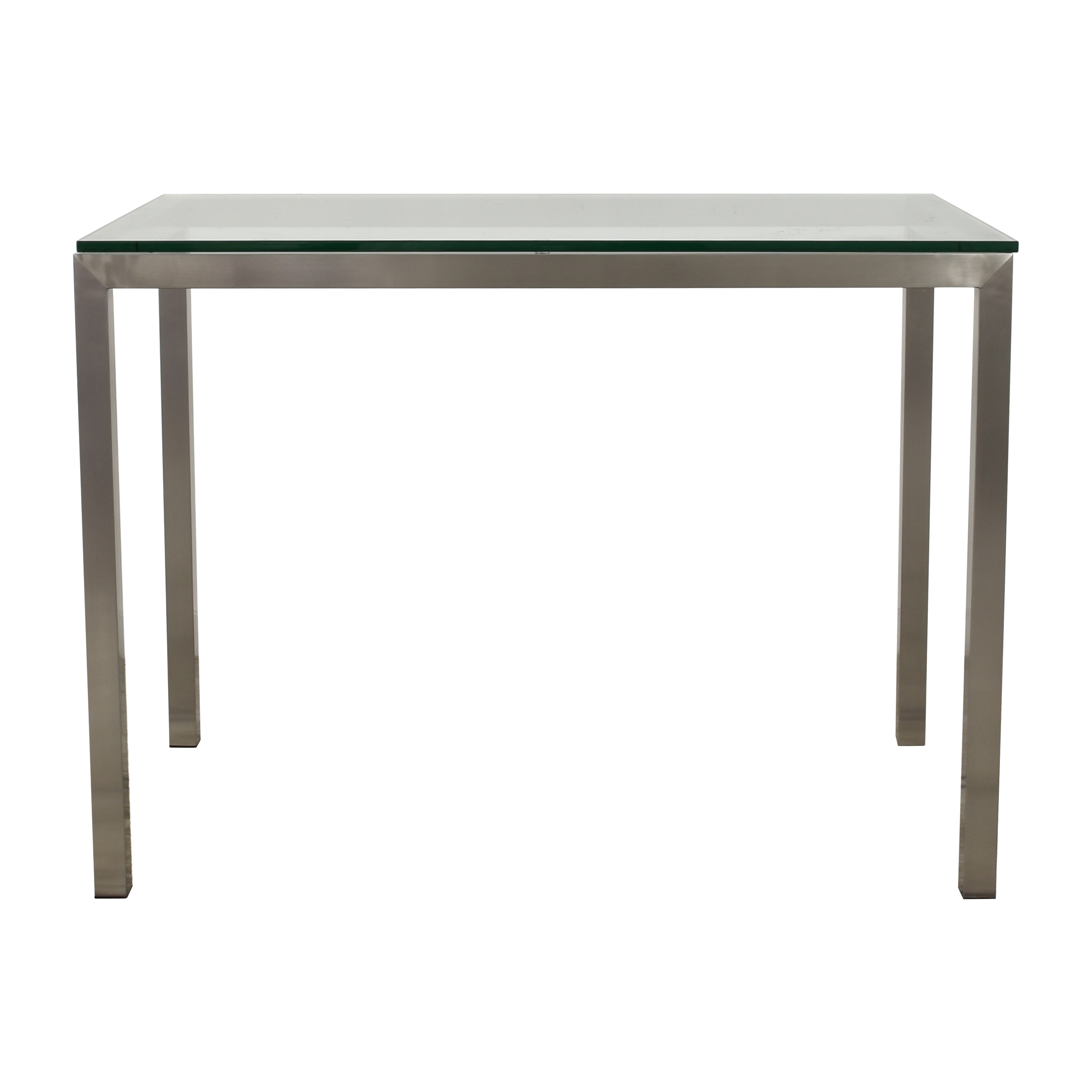 Crate & Barrel Crate & Barrel Parsons High Dining Table Silver