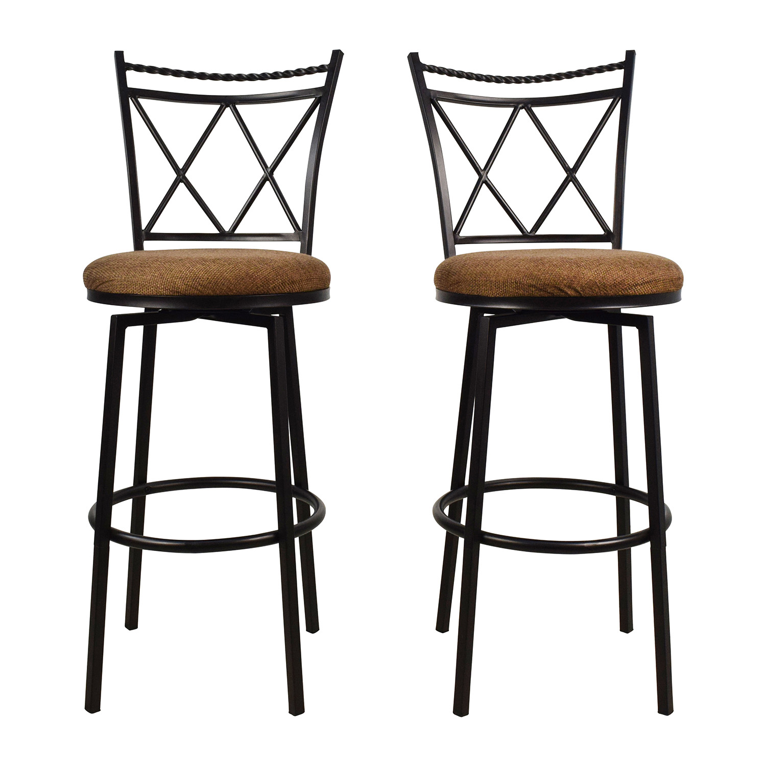shop Upholstered Swivel Bar Stools Chairs