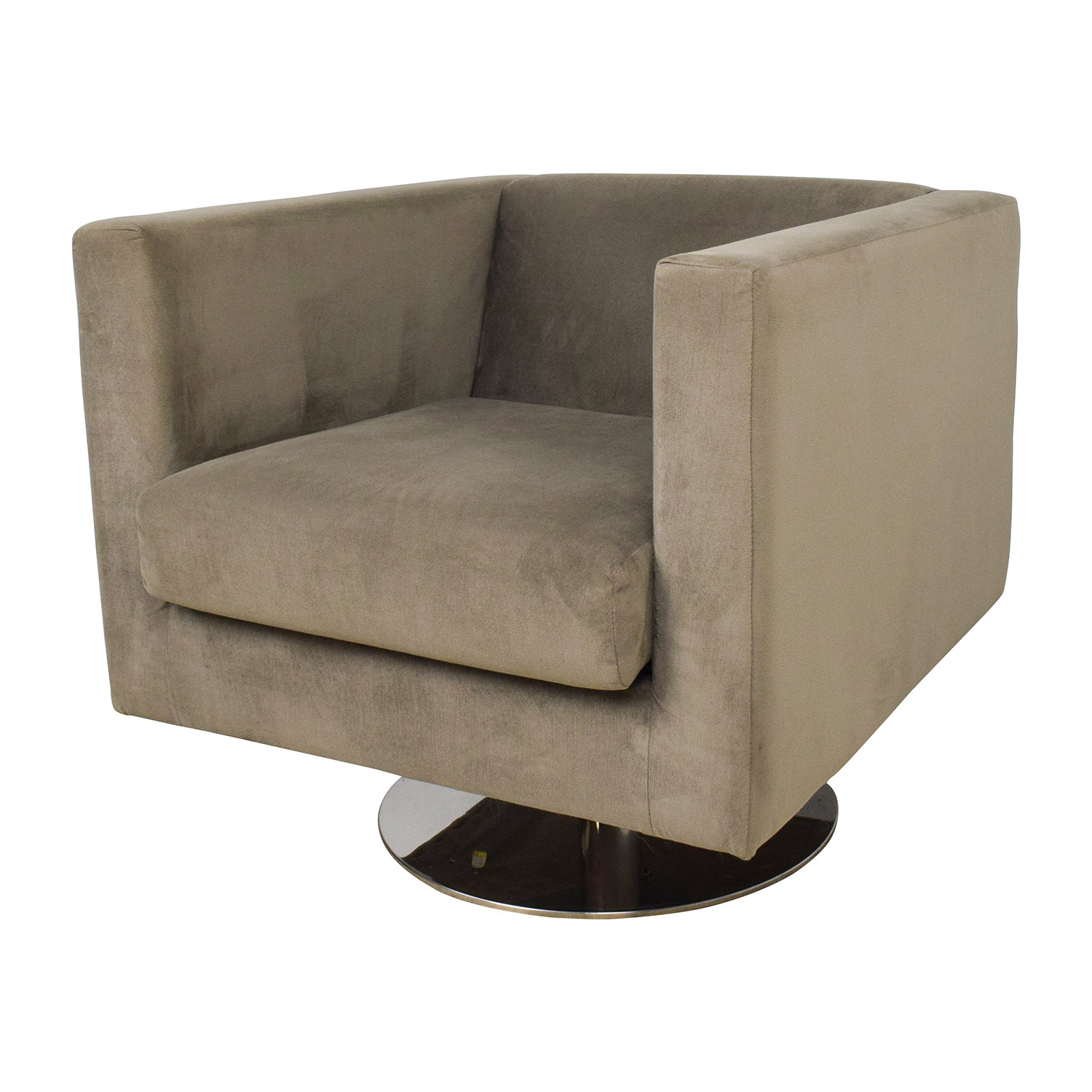 79 Off Rowe Rowe Grey Swivel Chair Chairs