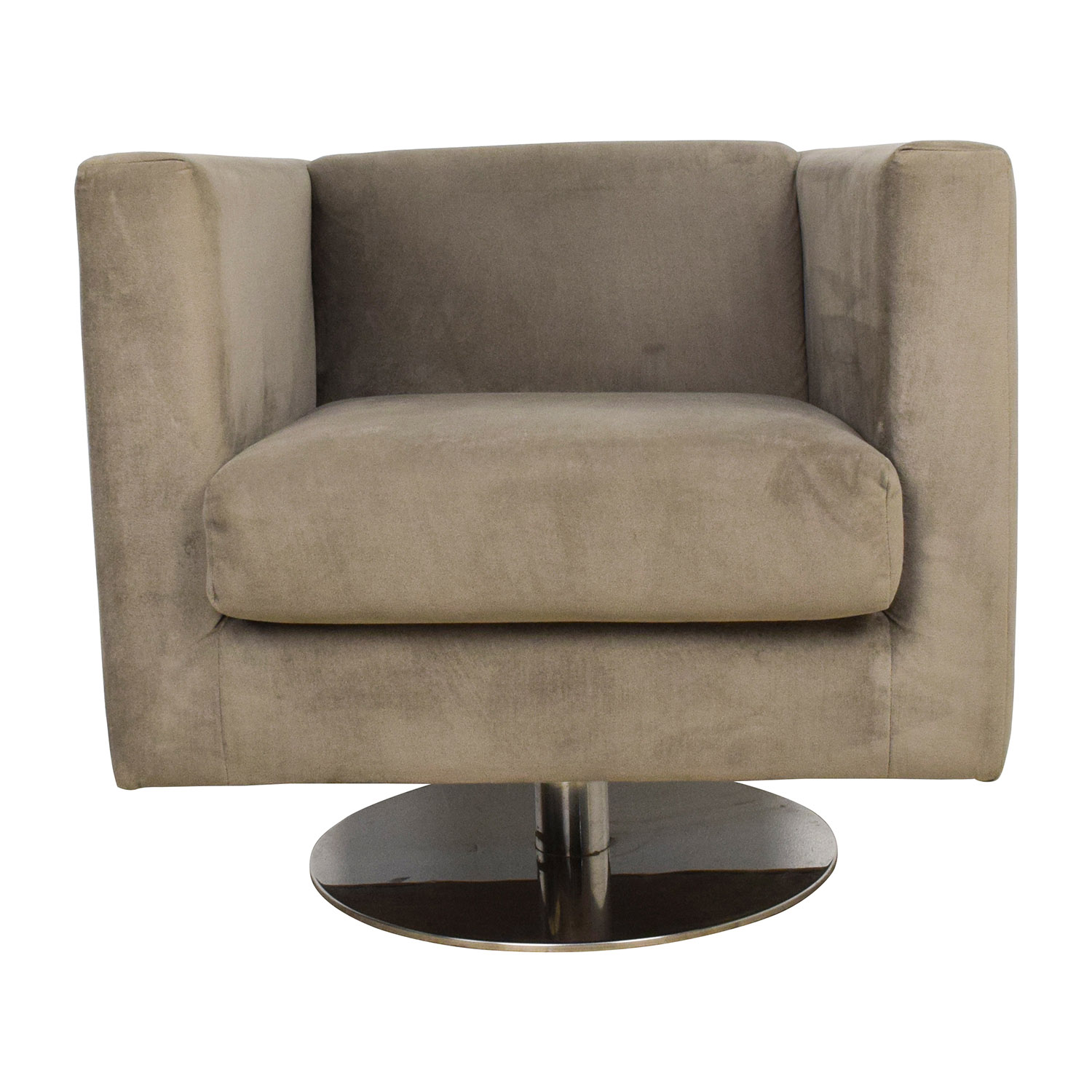 shop Rowe Grey Swivel Chair Rowe