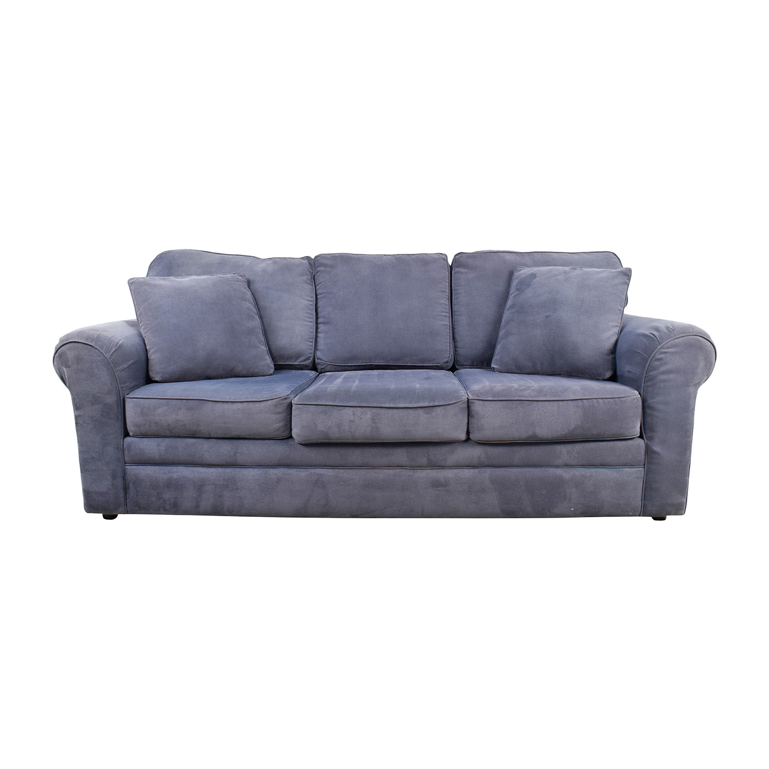 Klaussner Furniture Klaussner Hubbard Incline Naval Textured Velvet Sofa dimensions