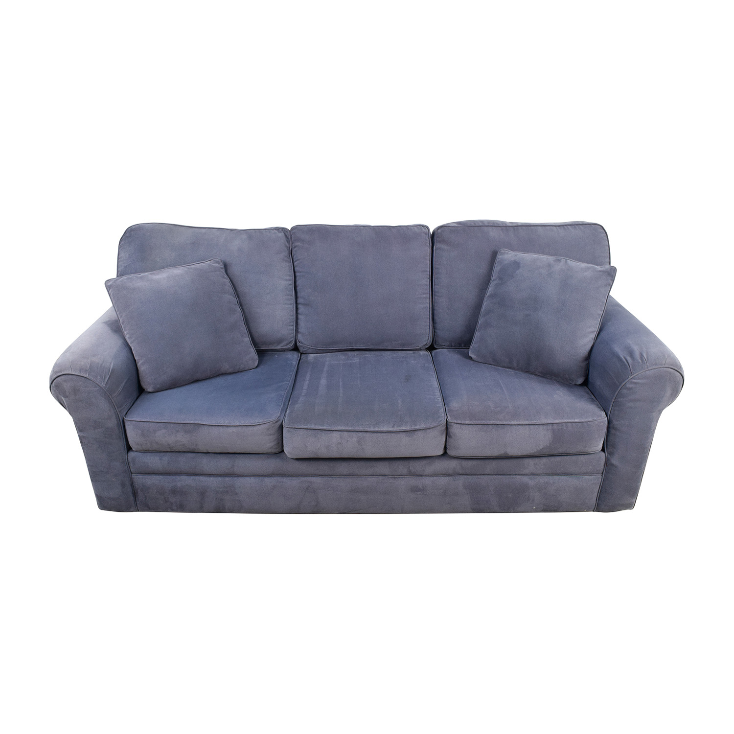 shop Klaussner Furniture Klaussner Hubbard Incline Naval Textured Velvet Sofa online