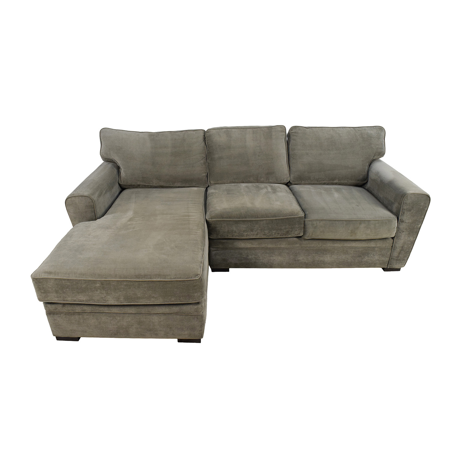 Raymour And Flanigan Grey Sectional Sofa Baci Living Room