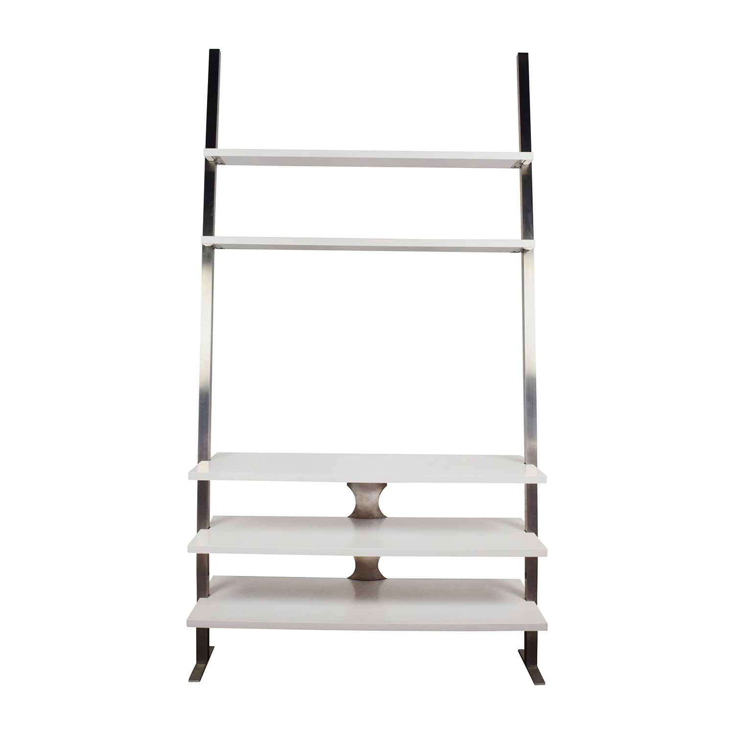 Room and Board Room & Board Gallery Media Leaning Shelf Whit and Chrome