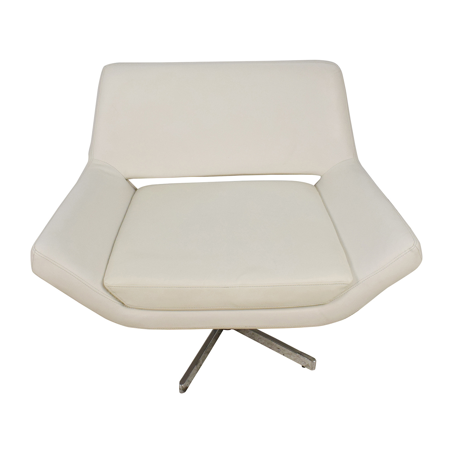 Faux White Leather Accent Chair / Chairs