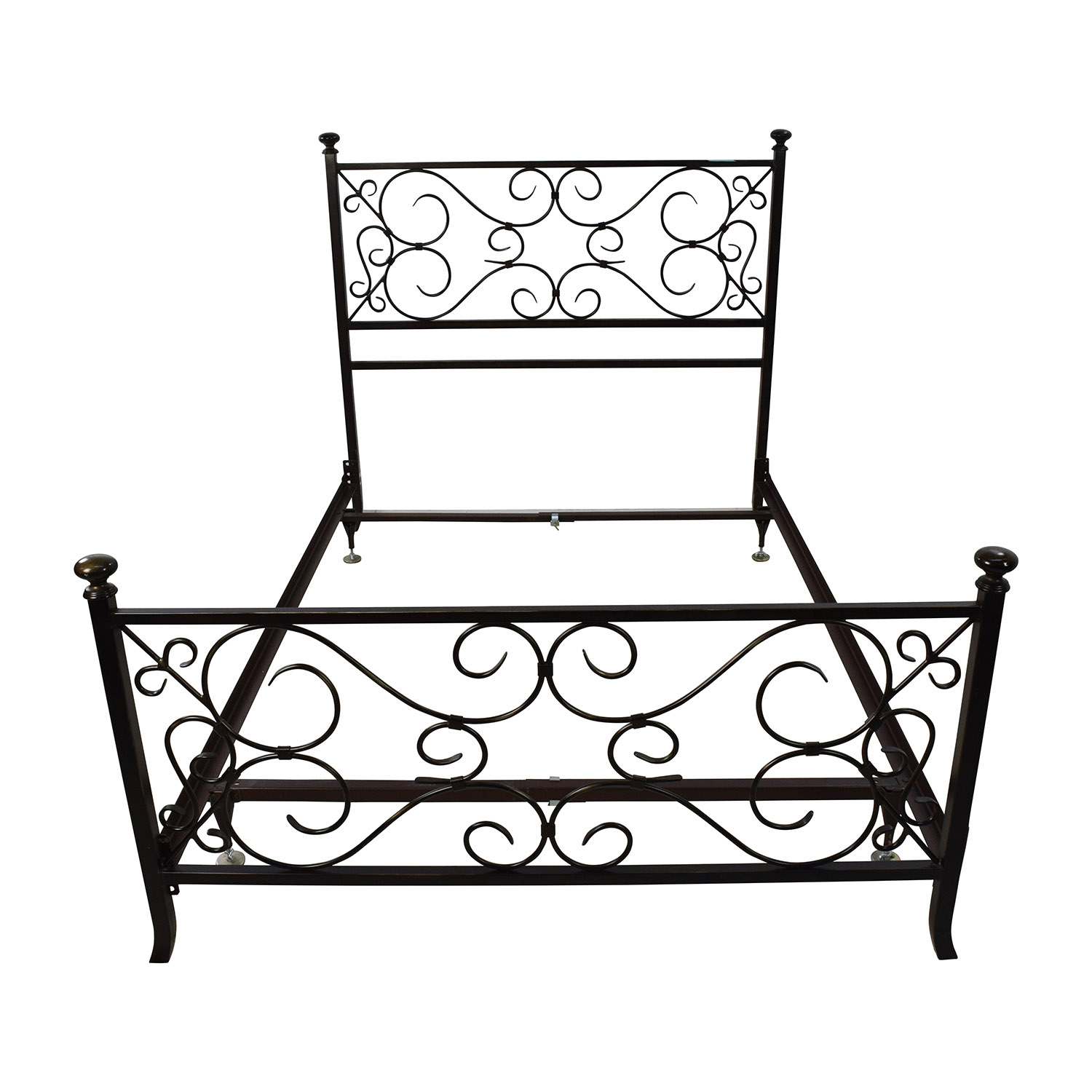 buy Black Scrolled Metal Bed Frame online