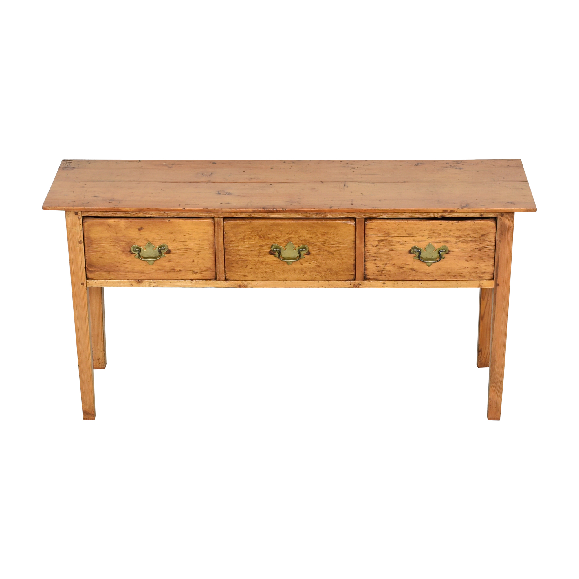 Antique Pine 3-Drawer Sideboard second hand
