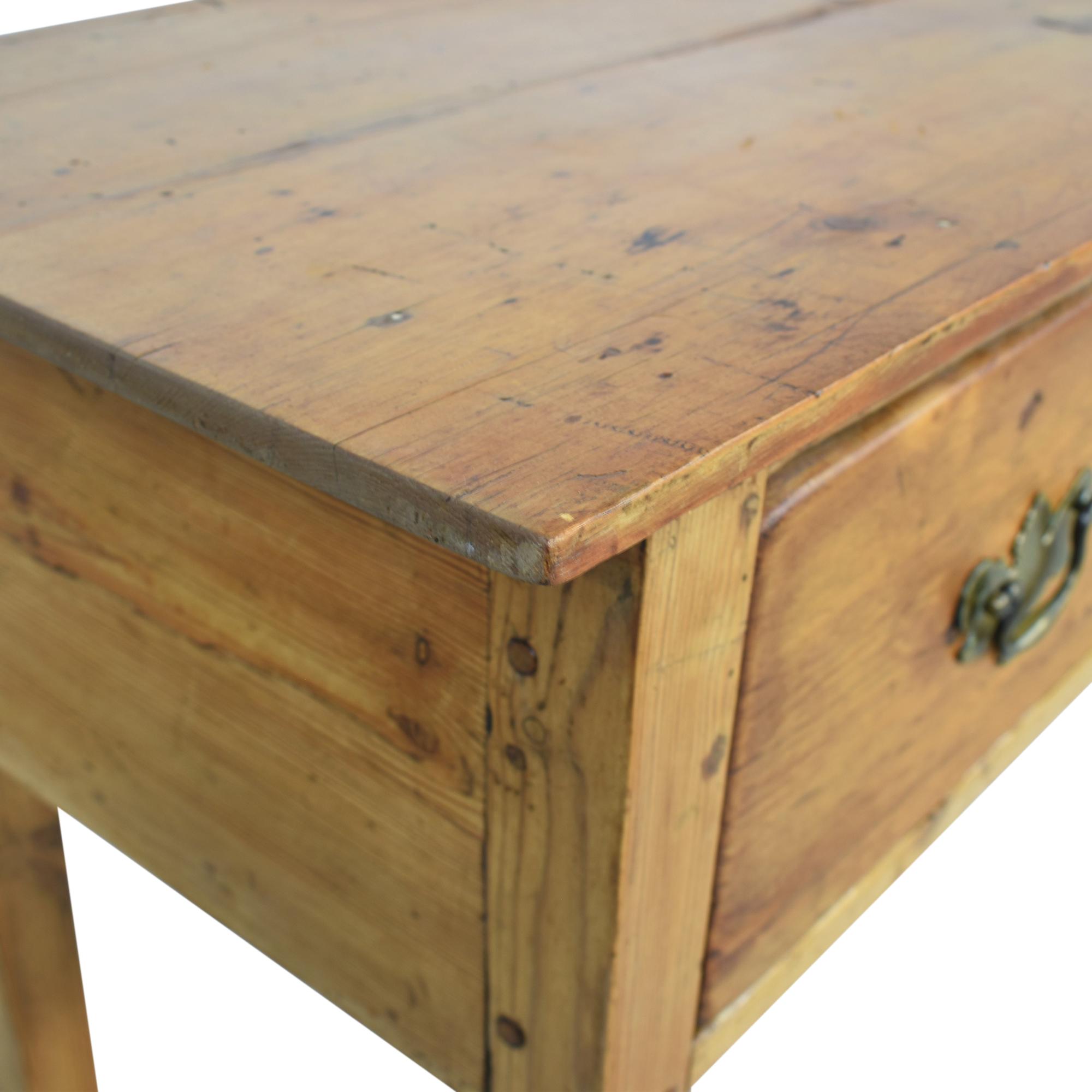 Antique Pine 3-Drawer Sideboard pa