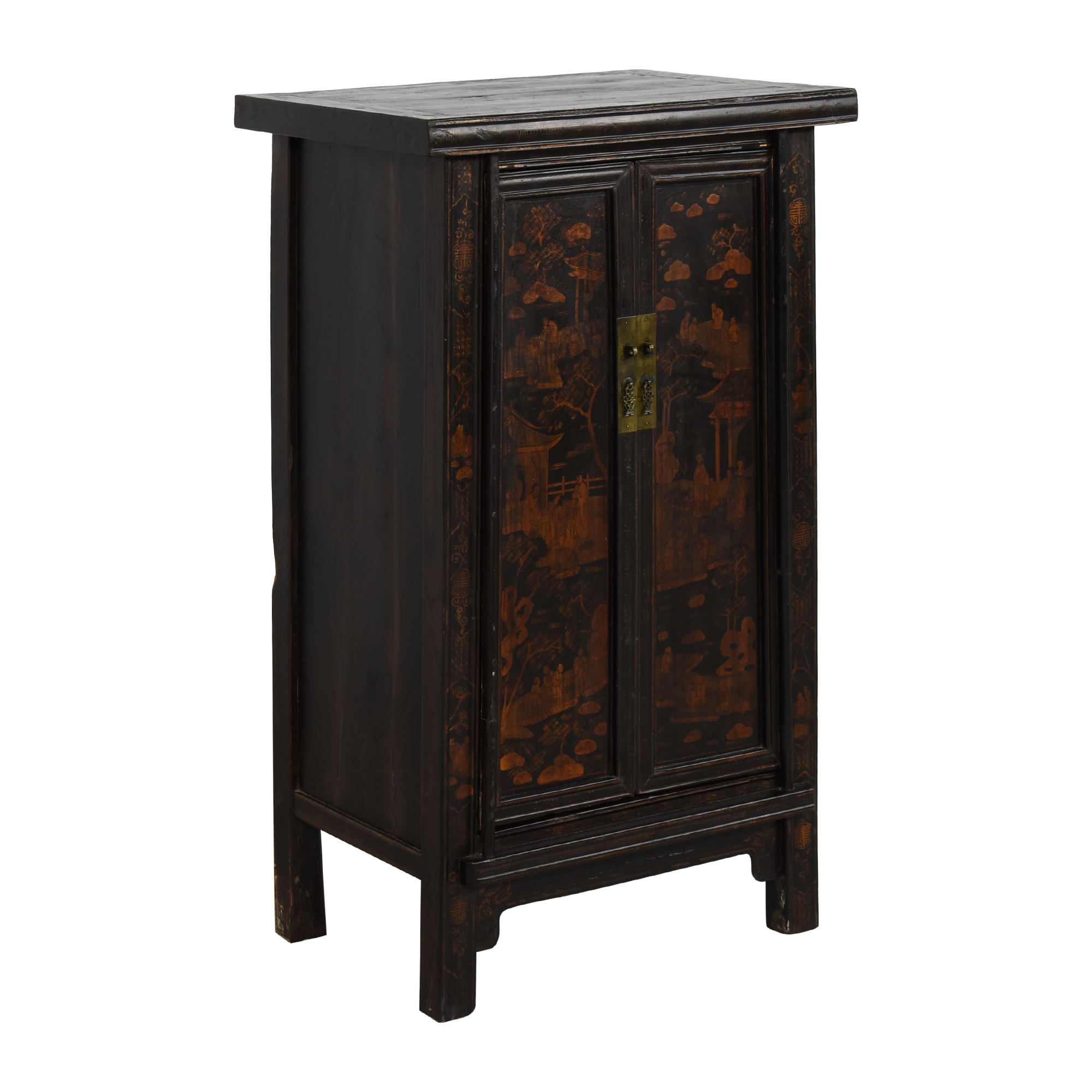 Vintage Black Asian Cabinet / Storage