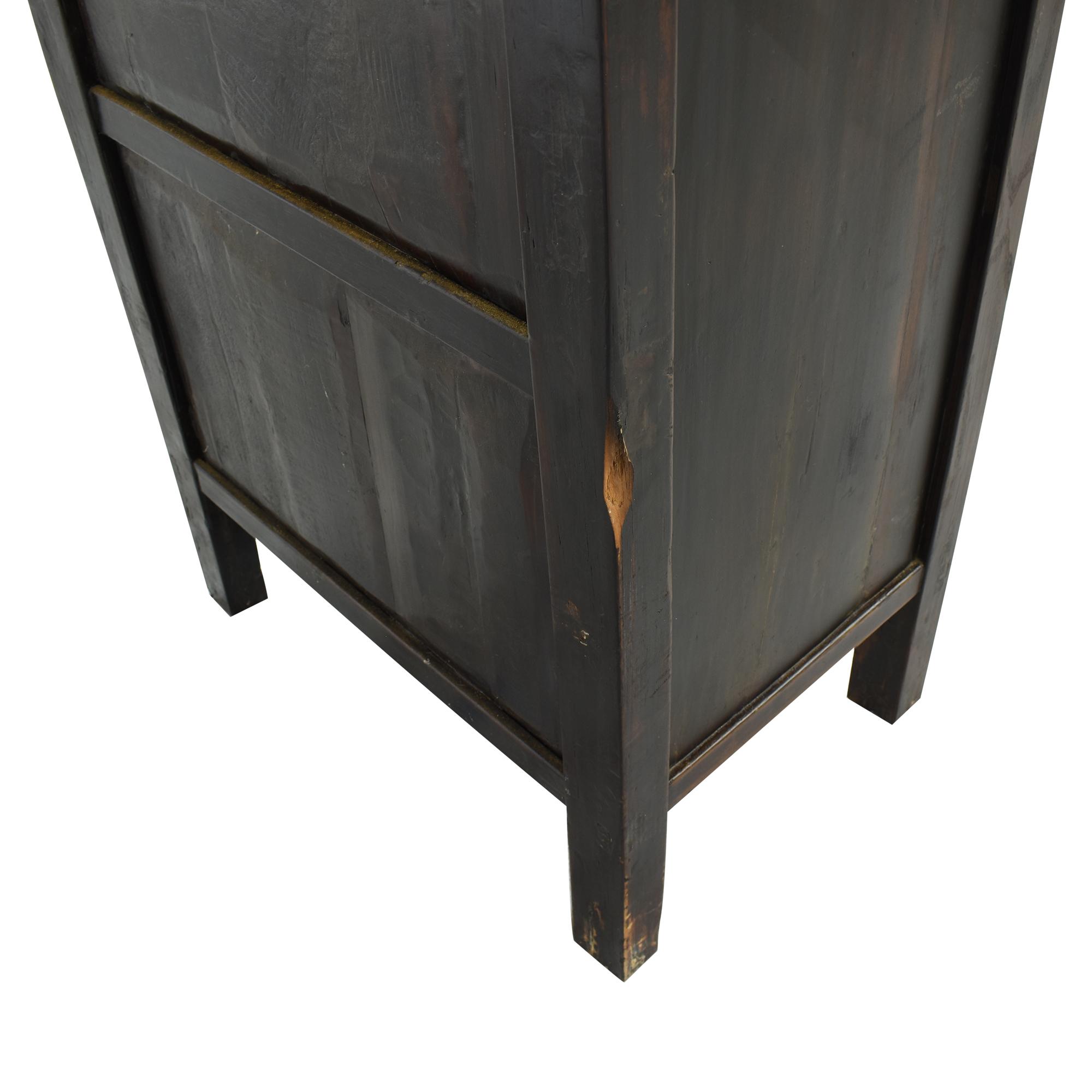 Vintage Black Asian Cabinet for sale