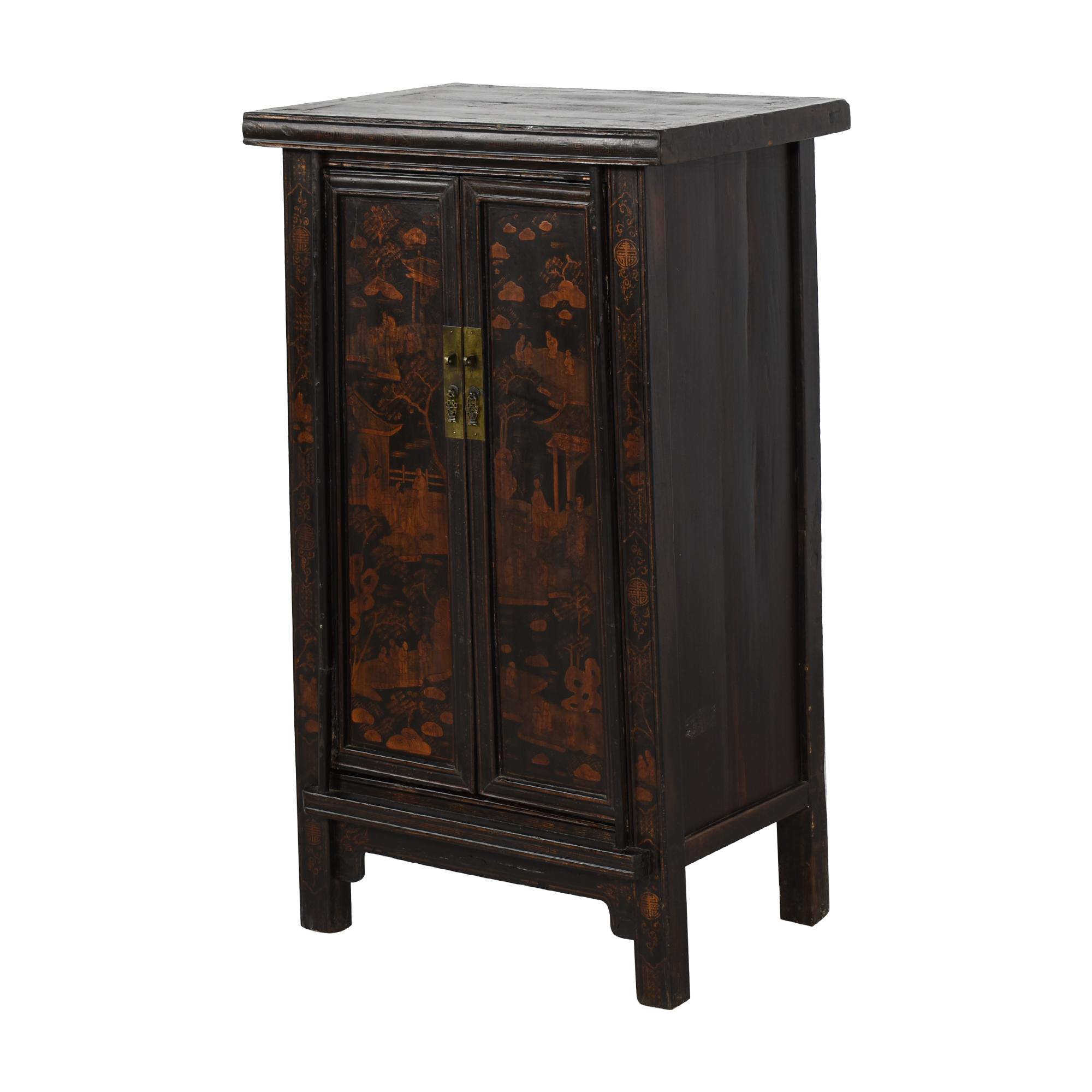 Vintage Black Asian Cabinet nj