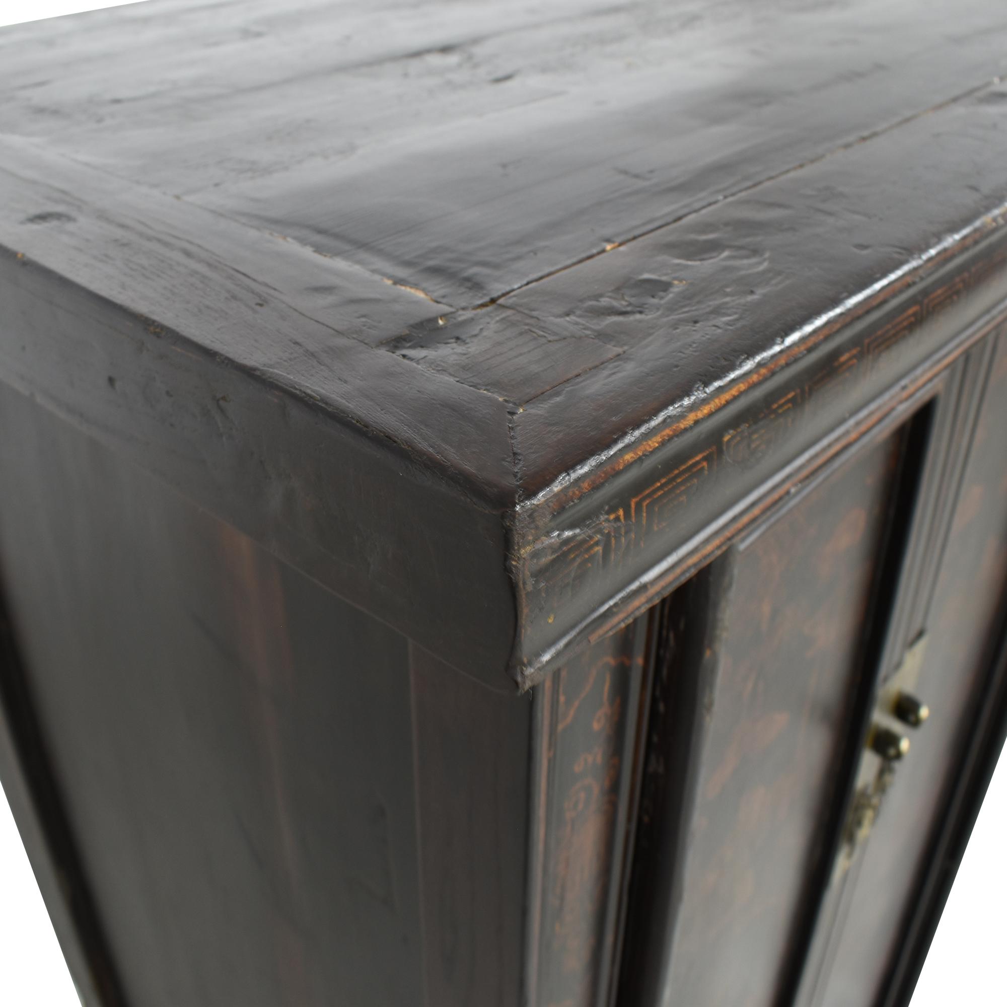 shop Vintage Black Asian Cabinet  Cabinets & Sideboards