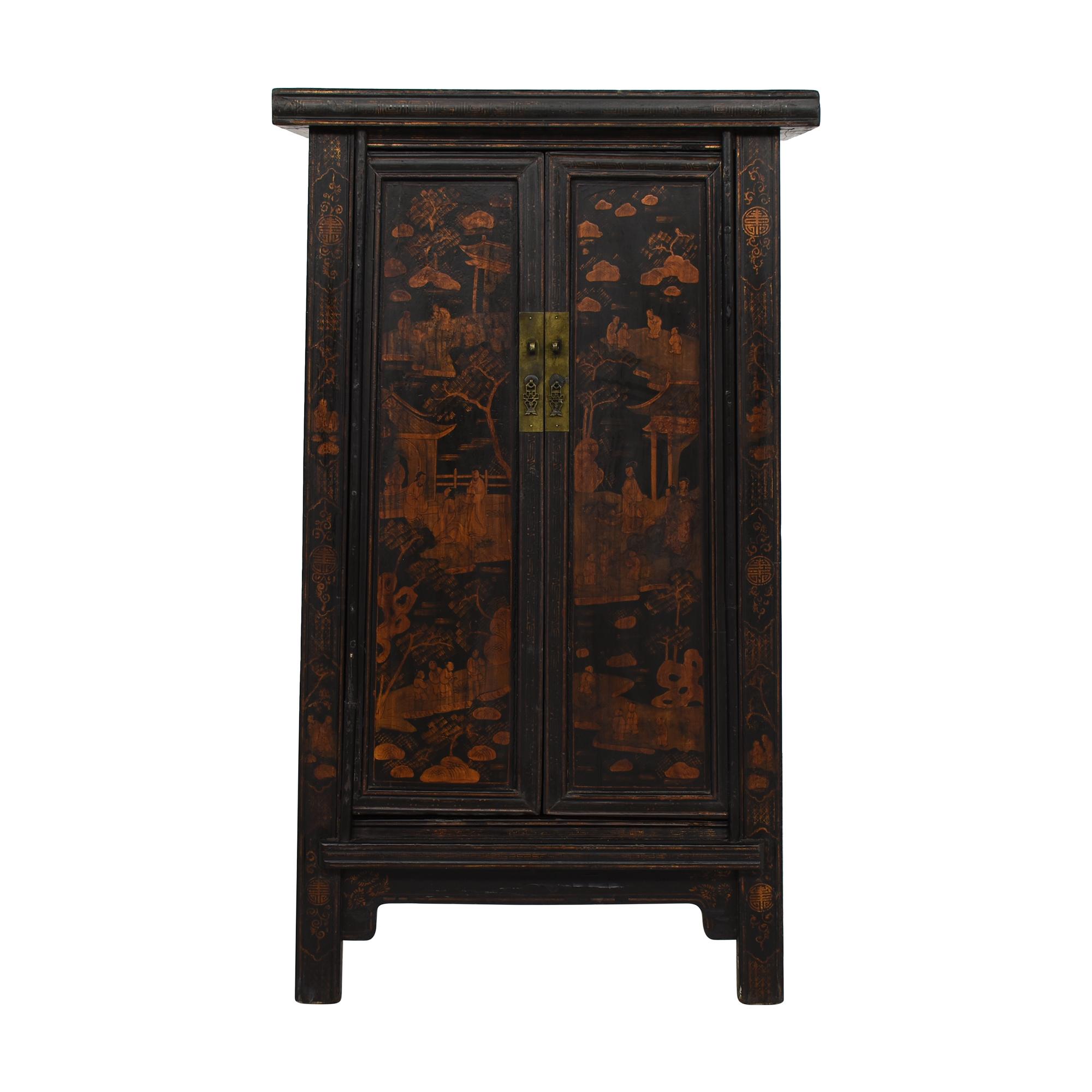 shop  Vintage Black Asian Cabinet online