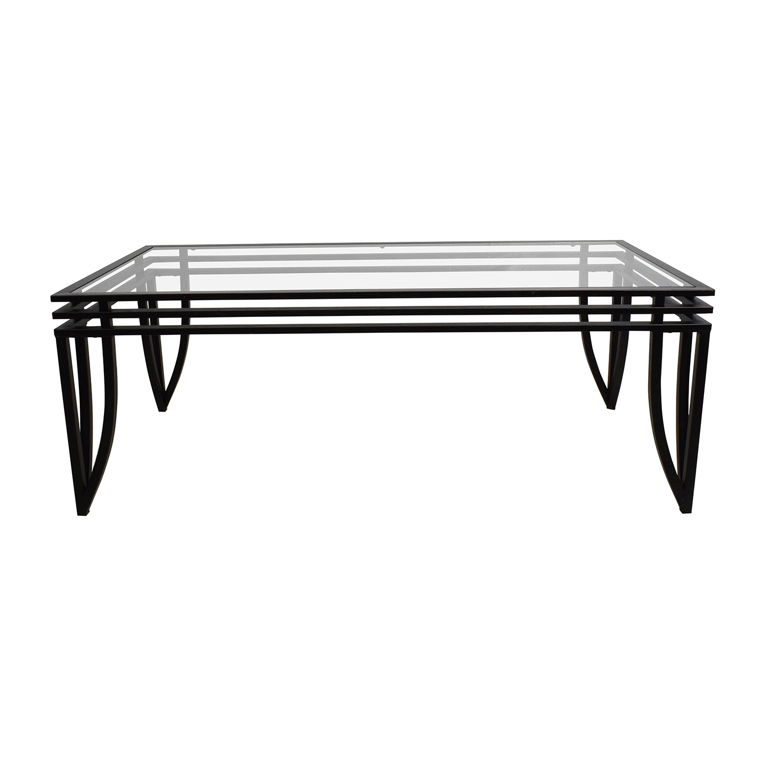 80 off faux marble coffee table tables for Black and white glass coffee table