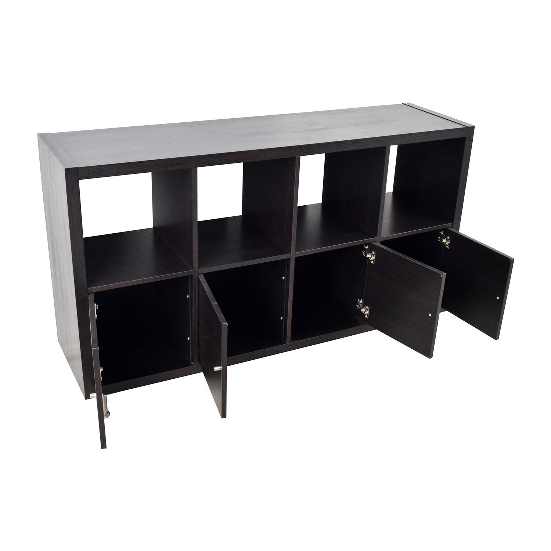 43 Off Ikea Ikea Kallax Black Shelf Unit Storage