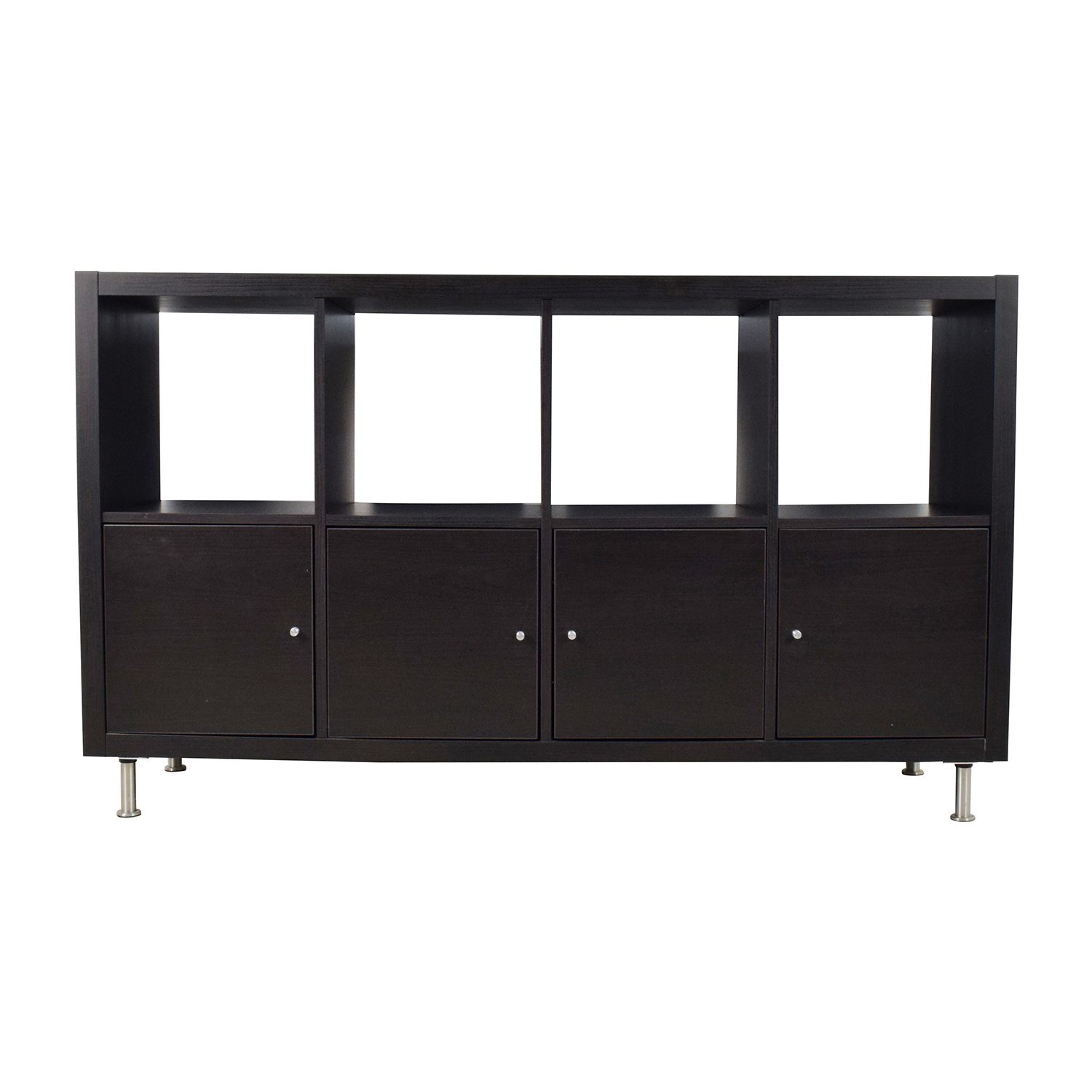 IKEA IKEA Kallax Black Shelf Unit Media Units