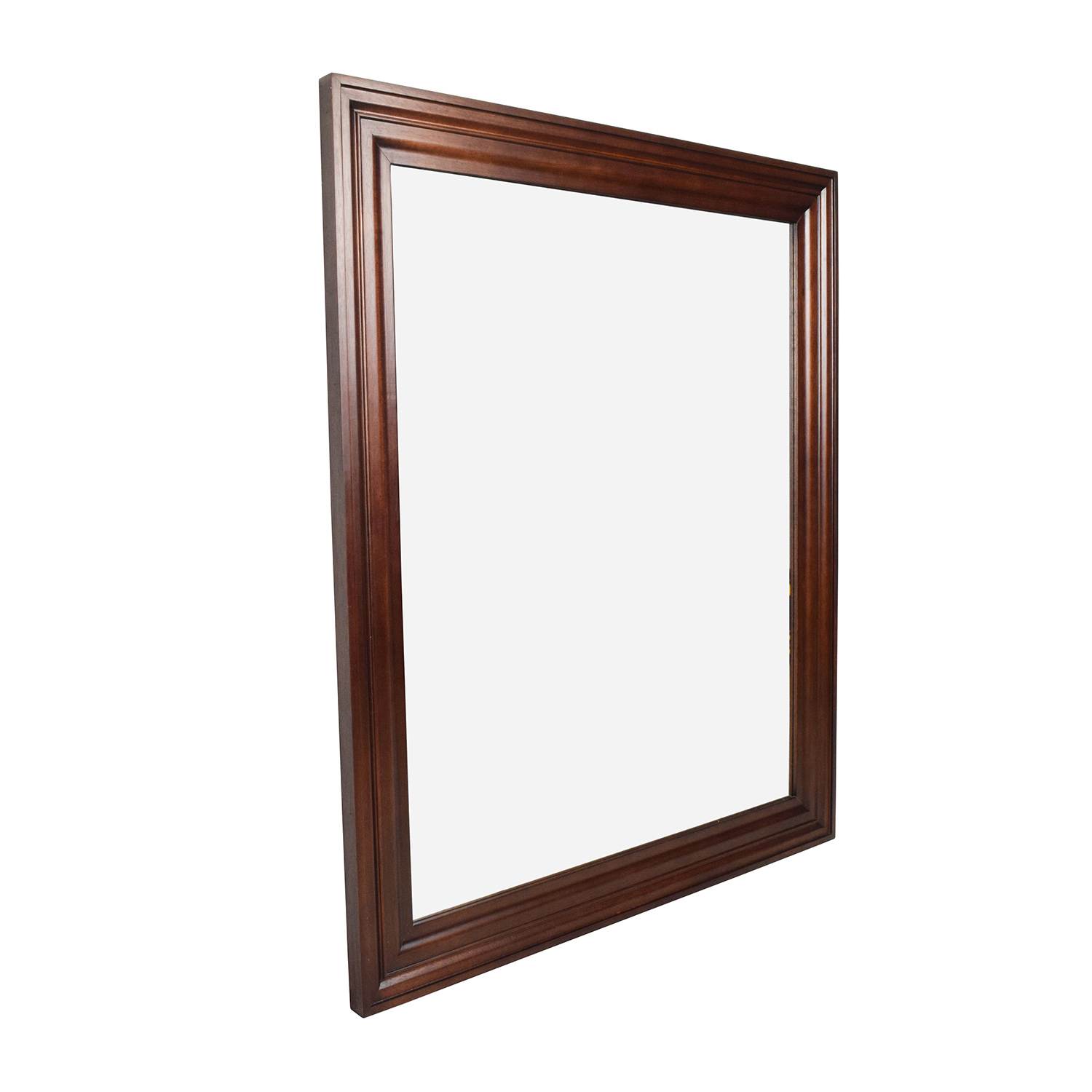 Large Wood Framed Mirror / Mirrors