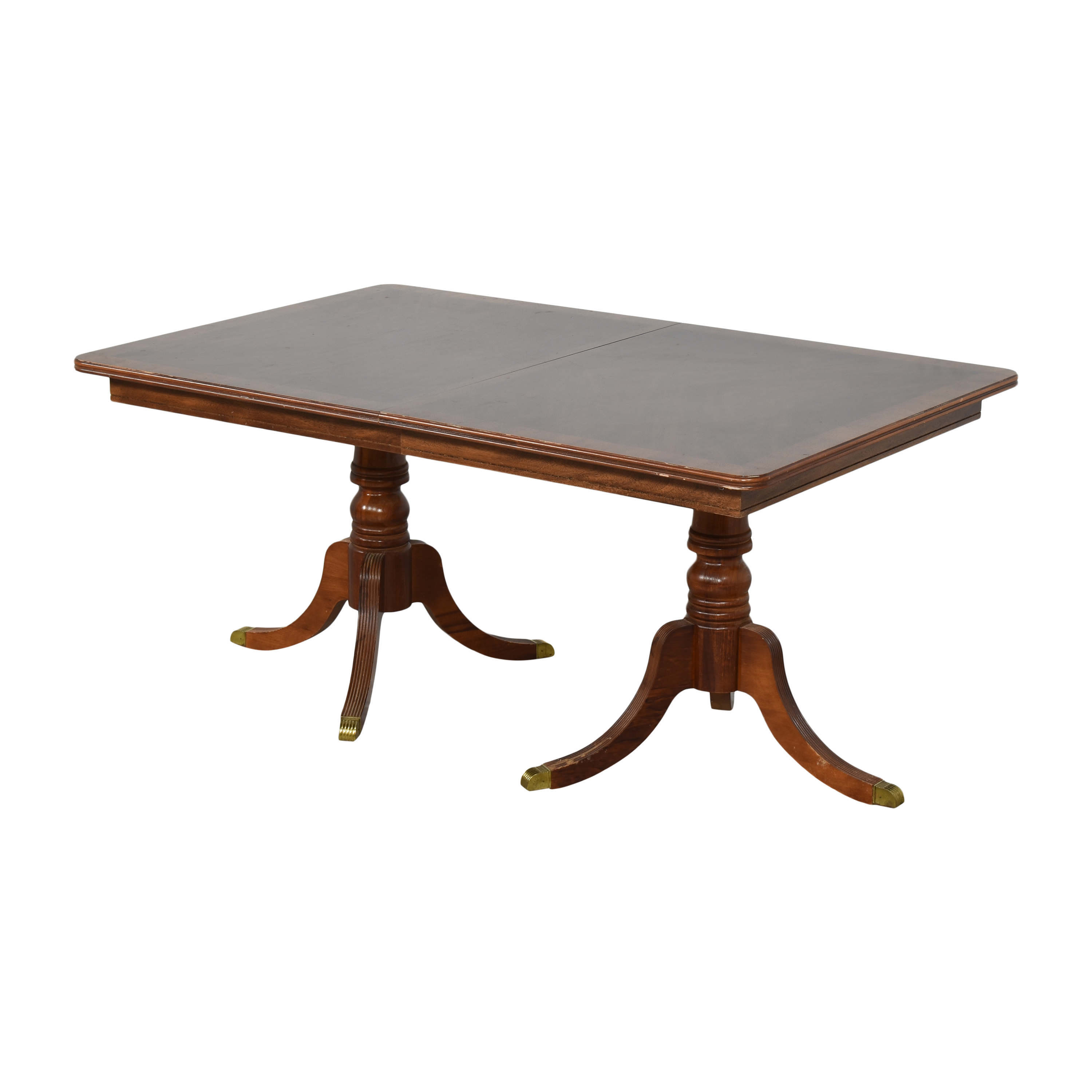 buy Chippendale Double Pedestal Extendable Dining Table  Dinner Tables
