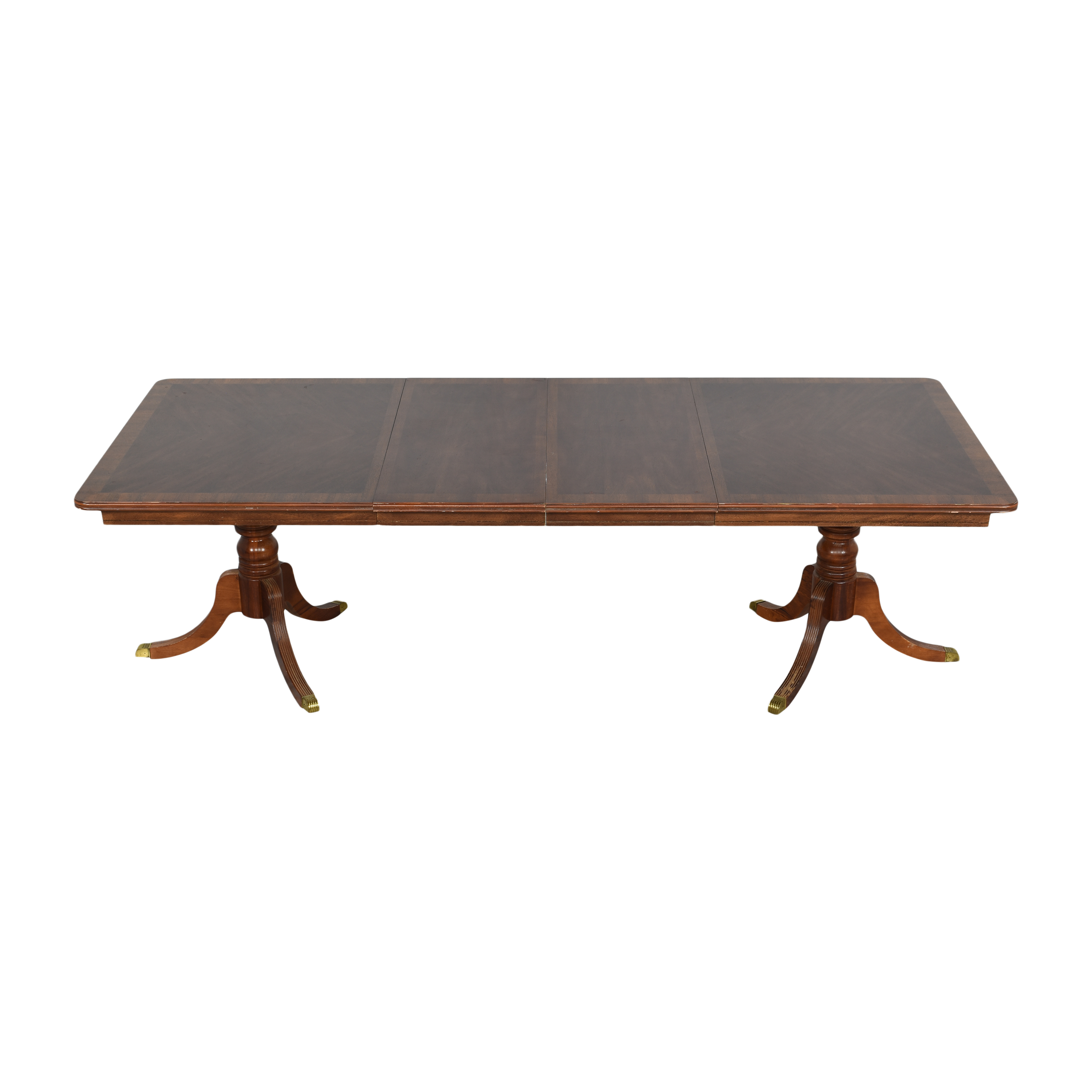 buy  Chippendale Double Pedestal Extendable Dining Table online
