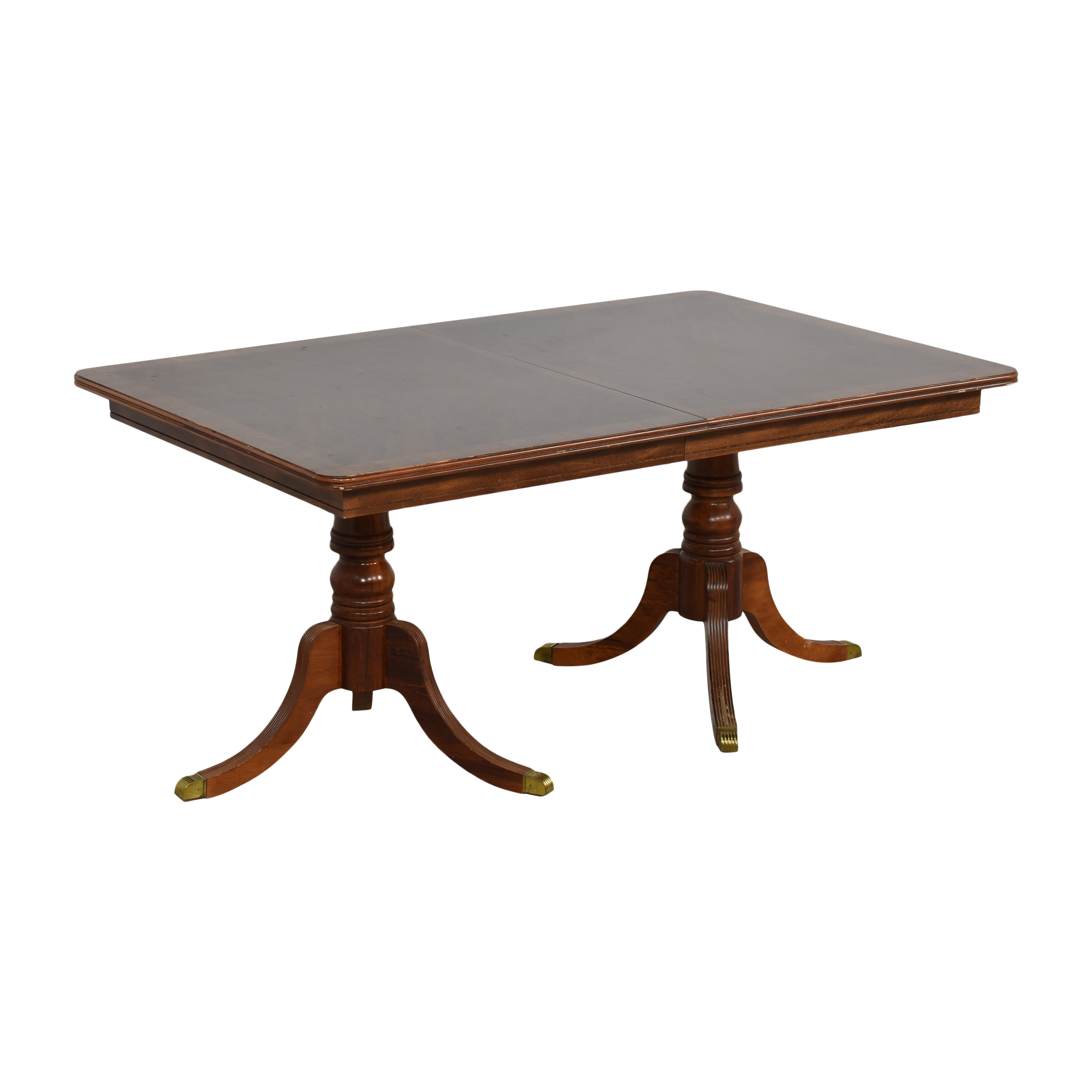Chippendale Double Pedestal Extendable Dining Table Tables