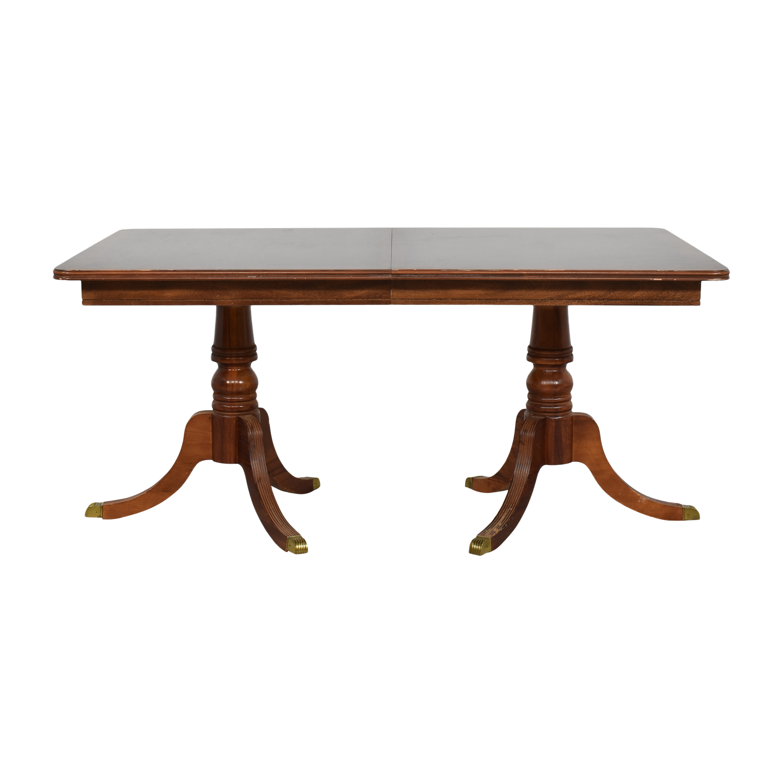 shop Chippendale Double Pedestal Extendable Dining Table  Tables