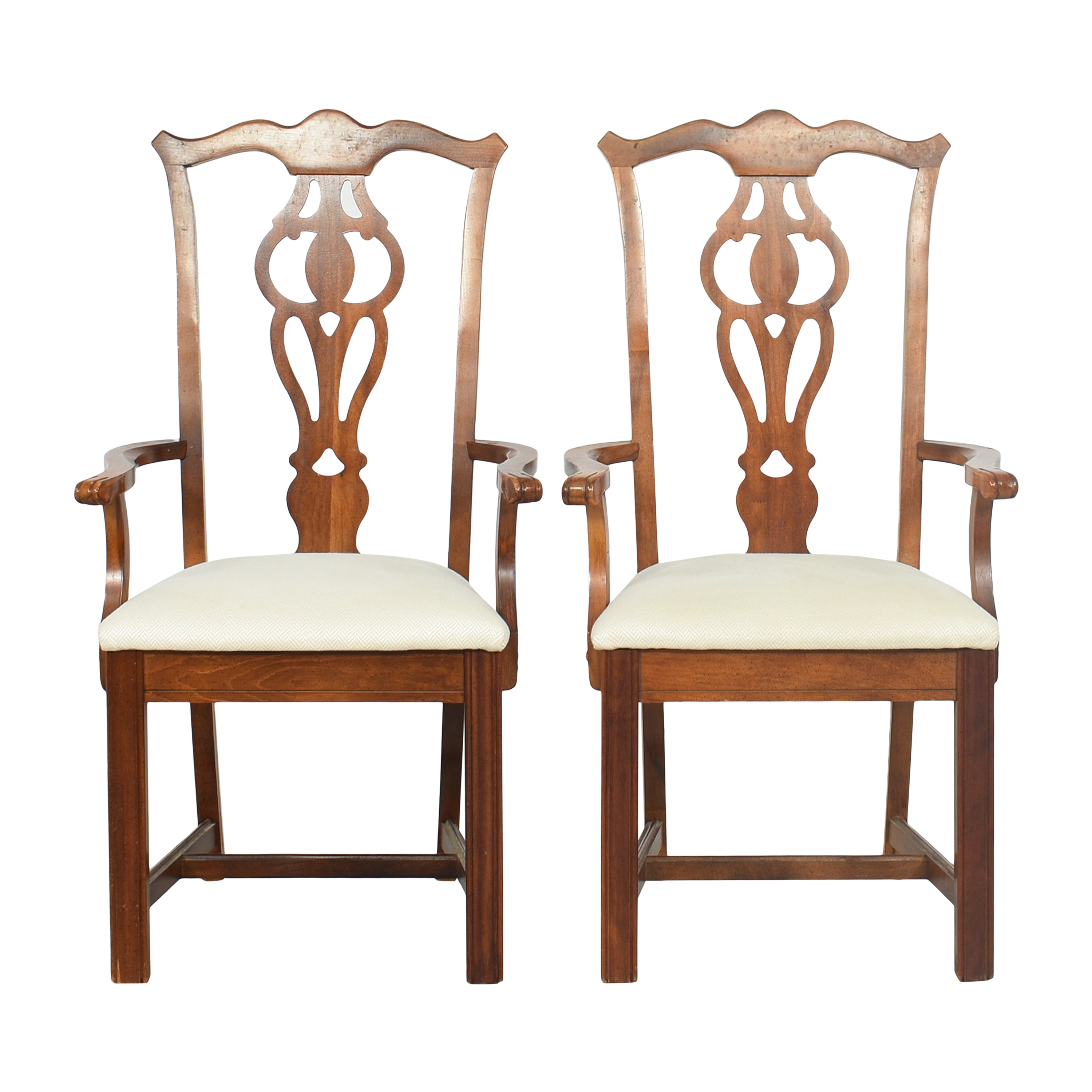 Chippendale-Style Dining Arm Chairs pa