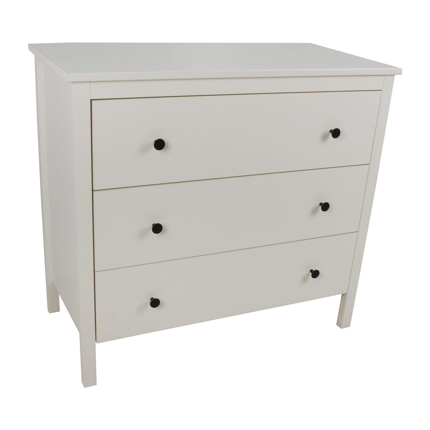 43 off ikea hemnes 3 drawer white dresser storage. Black Bedroom Furniture Sets. Home Design Ideas