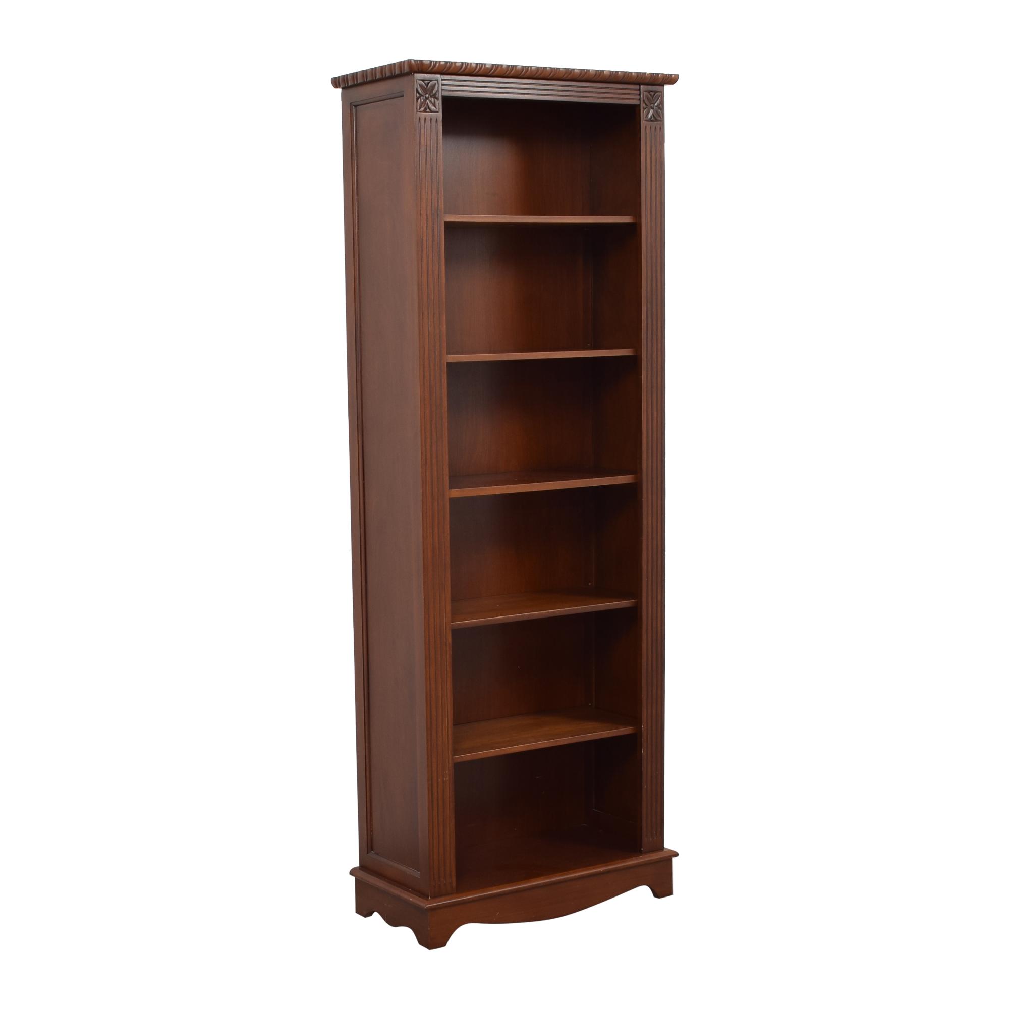Tall Six Shelf Bookcase brown