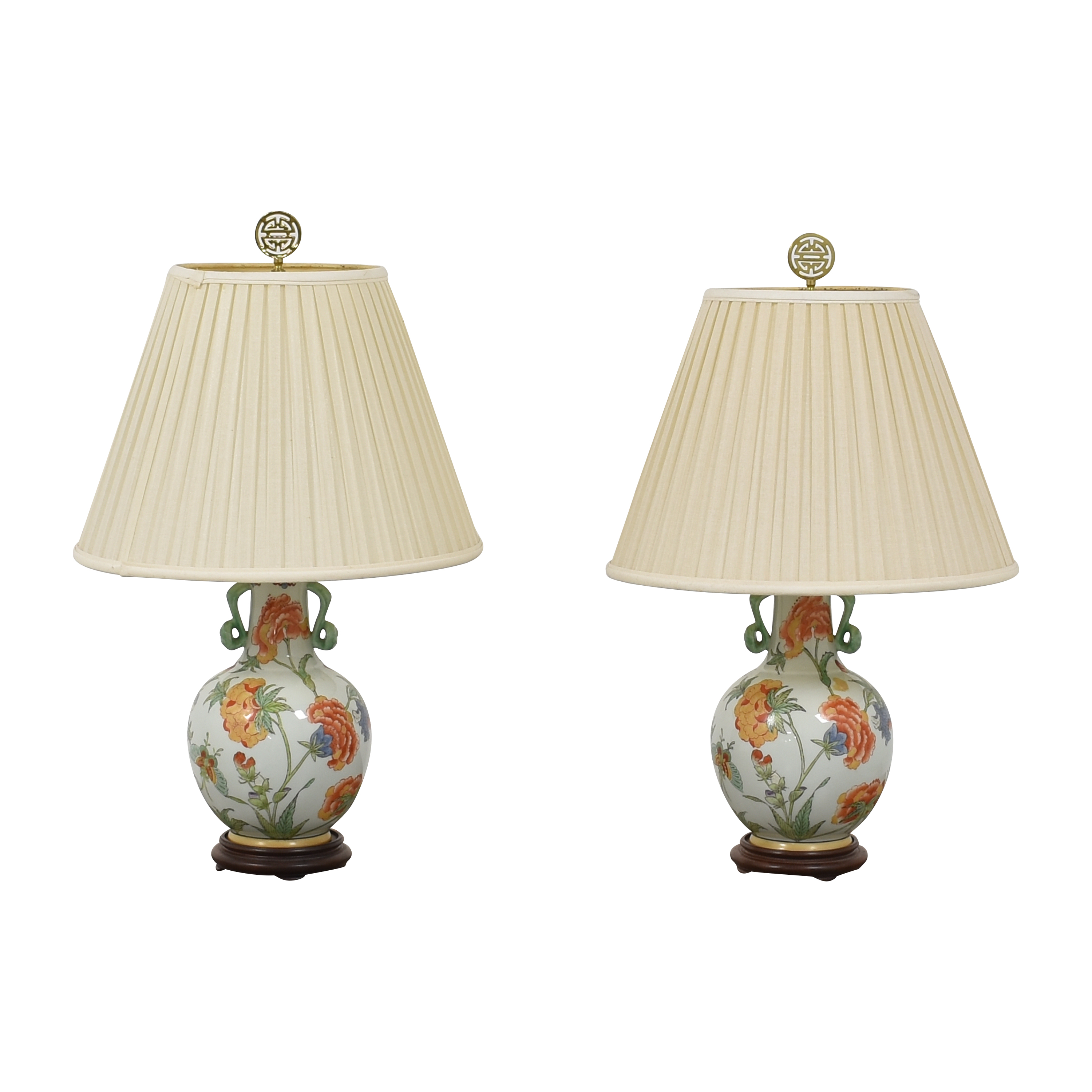 Asian Export Vase Table Lamps for sale