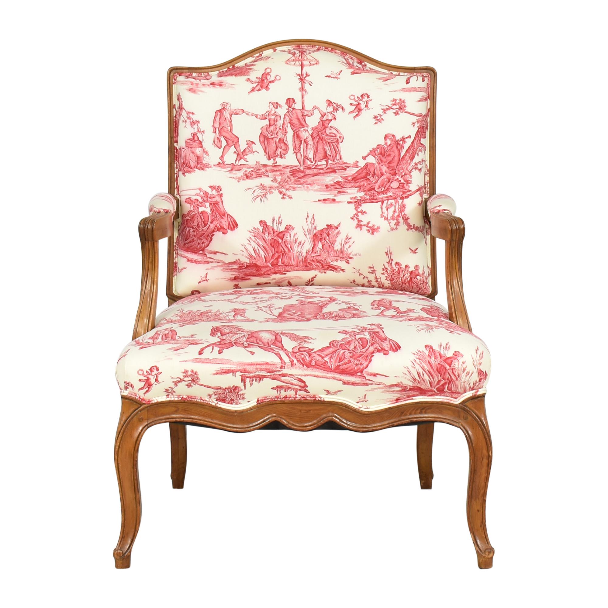 Pierre Deux Pierre Deux Upholstered Arm Chair dimensions