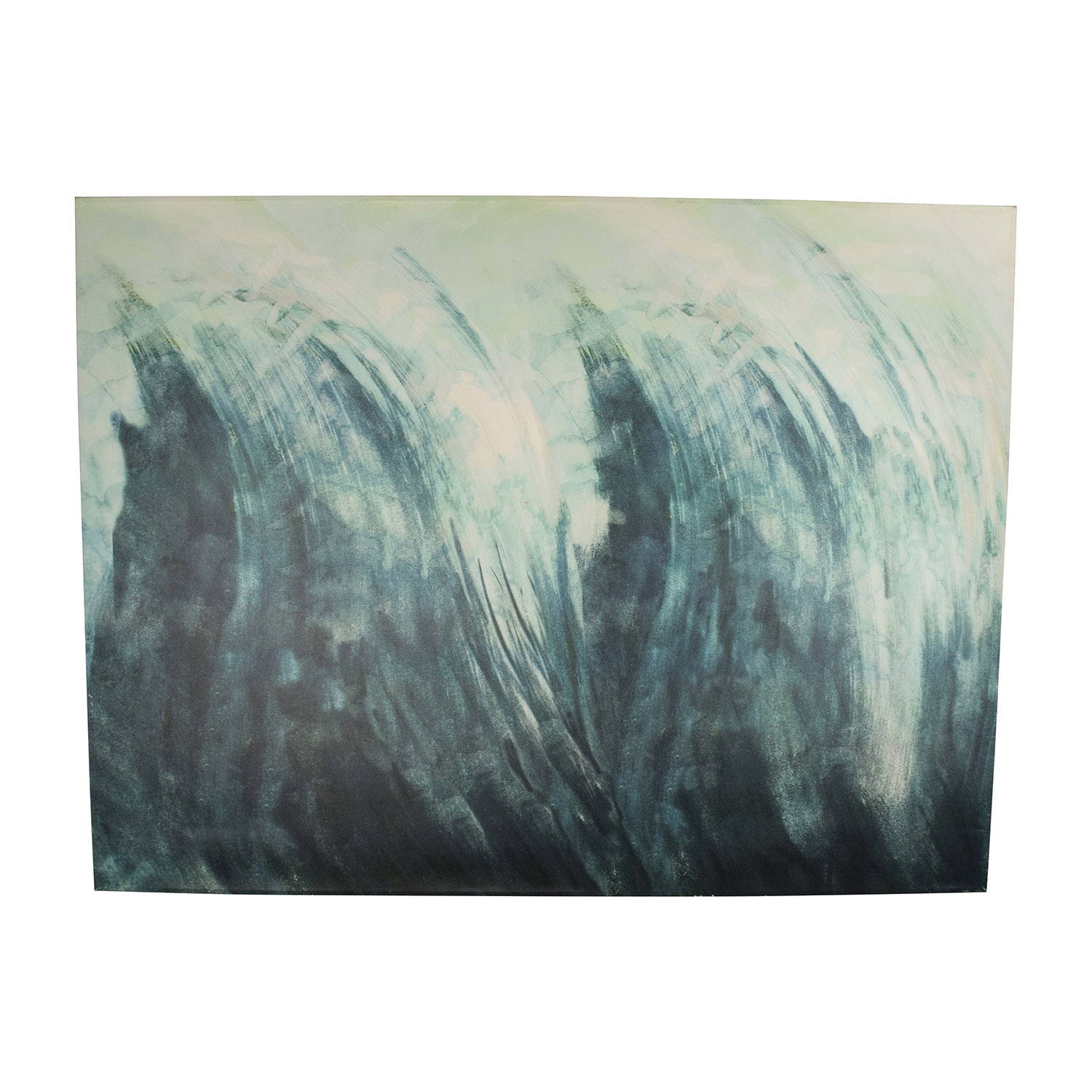 West Elm West Elm Blue Waves Canvas Painting discount