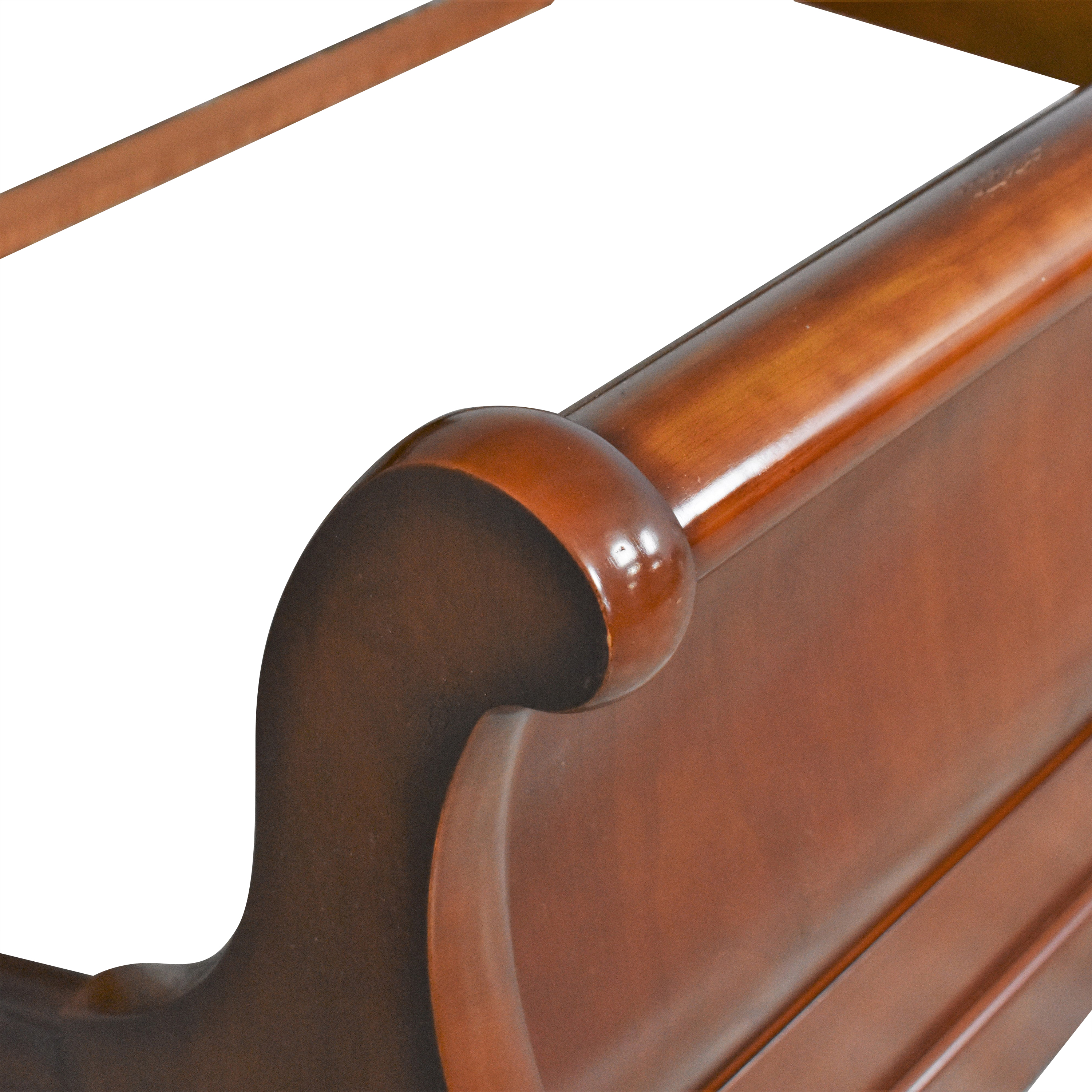 Vintage-Style Queen Sleigh Bed on sale