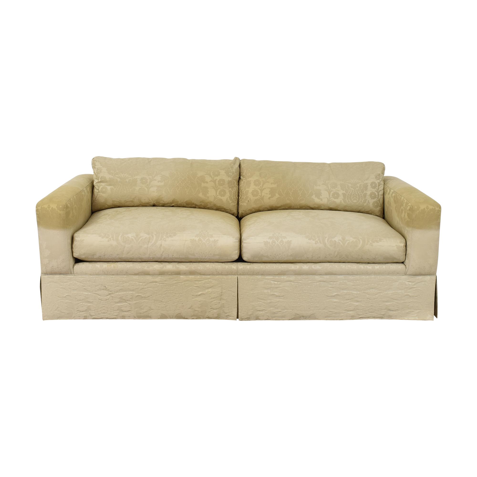 Baker Furniture Baker Furniture Two Cushion Skirted Sofa second hand