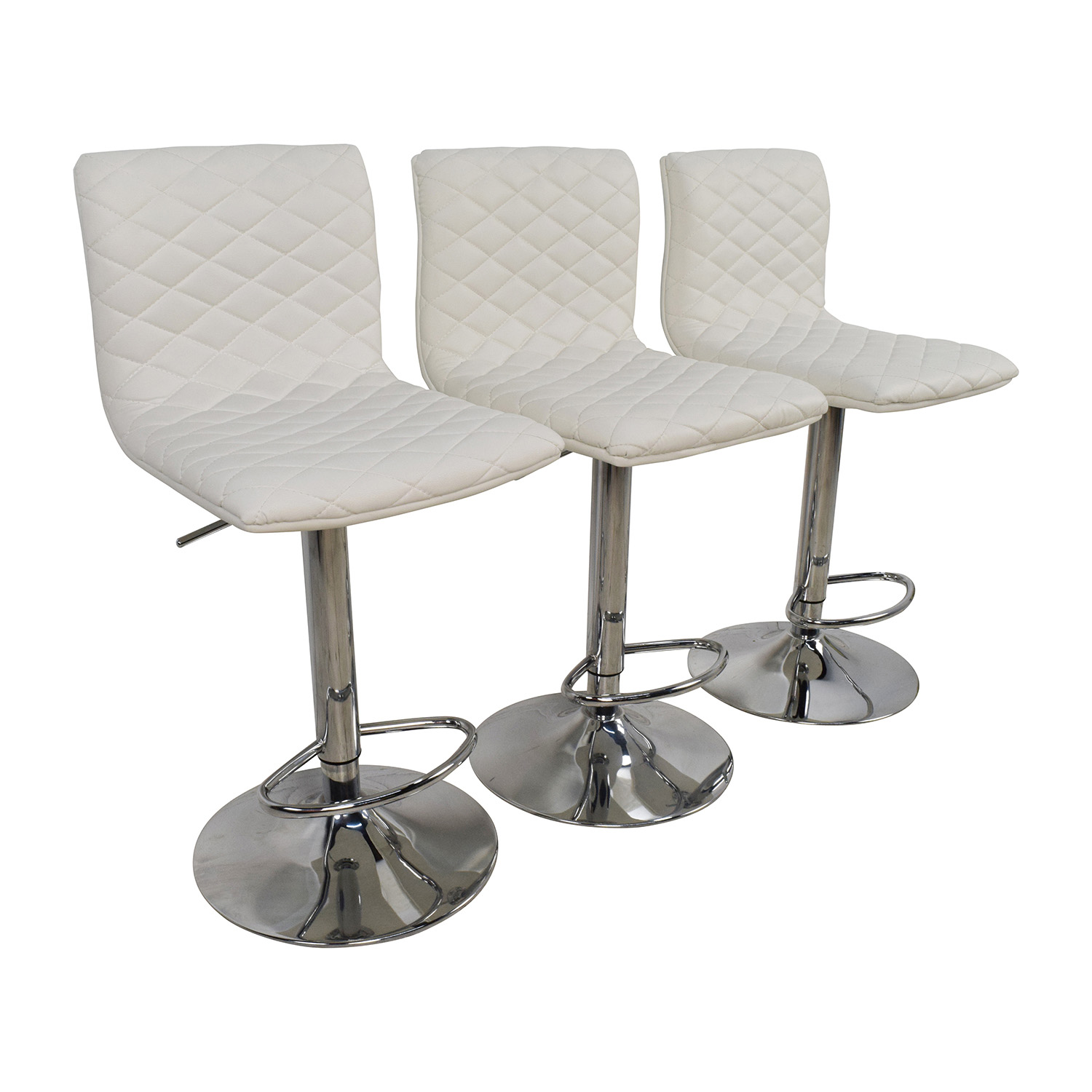 74 Off White Quilted Bar Stool Chairs Chairs