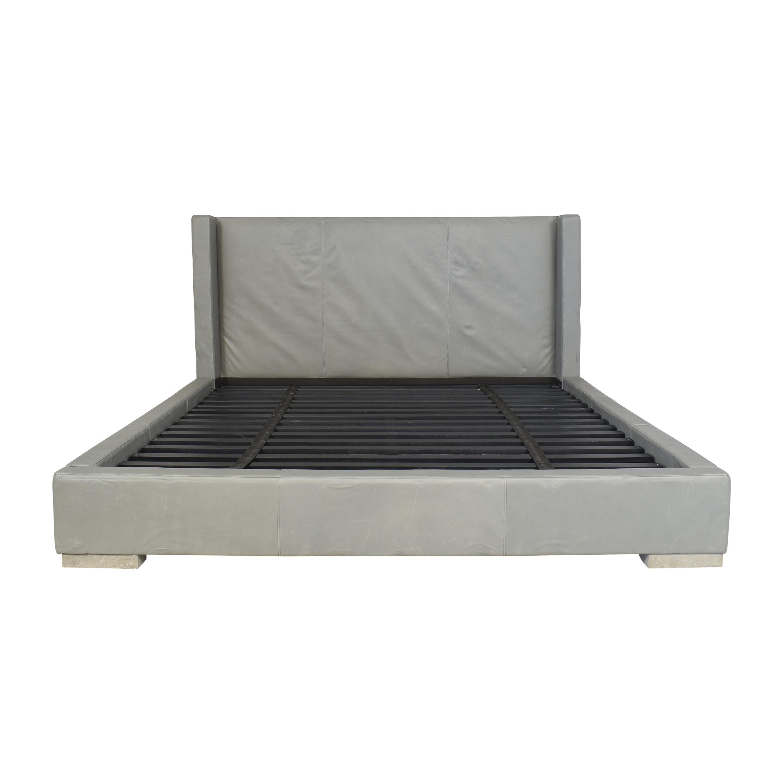 Restoration Hardware Restoration Hardware Modena Shelter Nontufted King Platform Bed discount