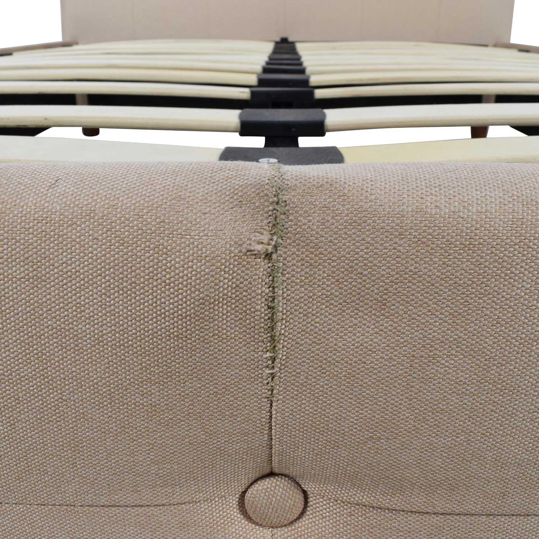 buy wayfair tufted tan fabric full bed frame wayfair