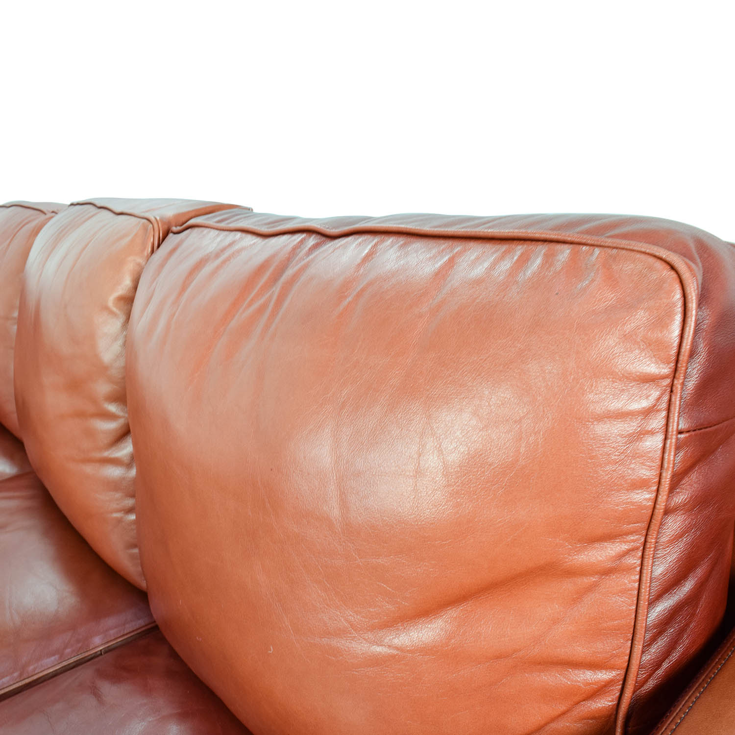 68% OFF Thomasville Thomasville Red Leather Sectional Sofas