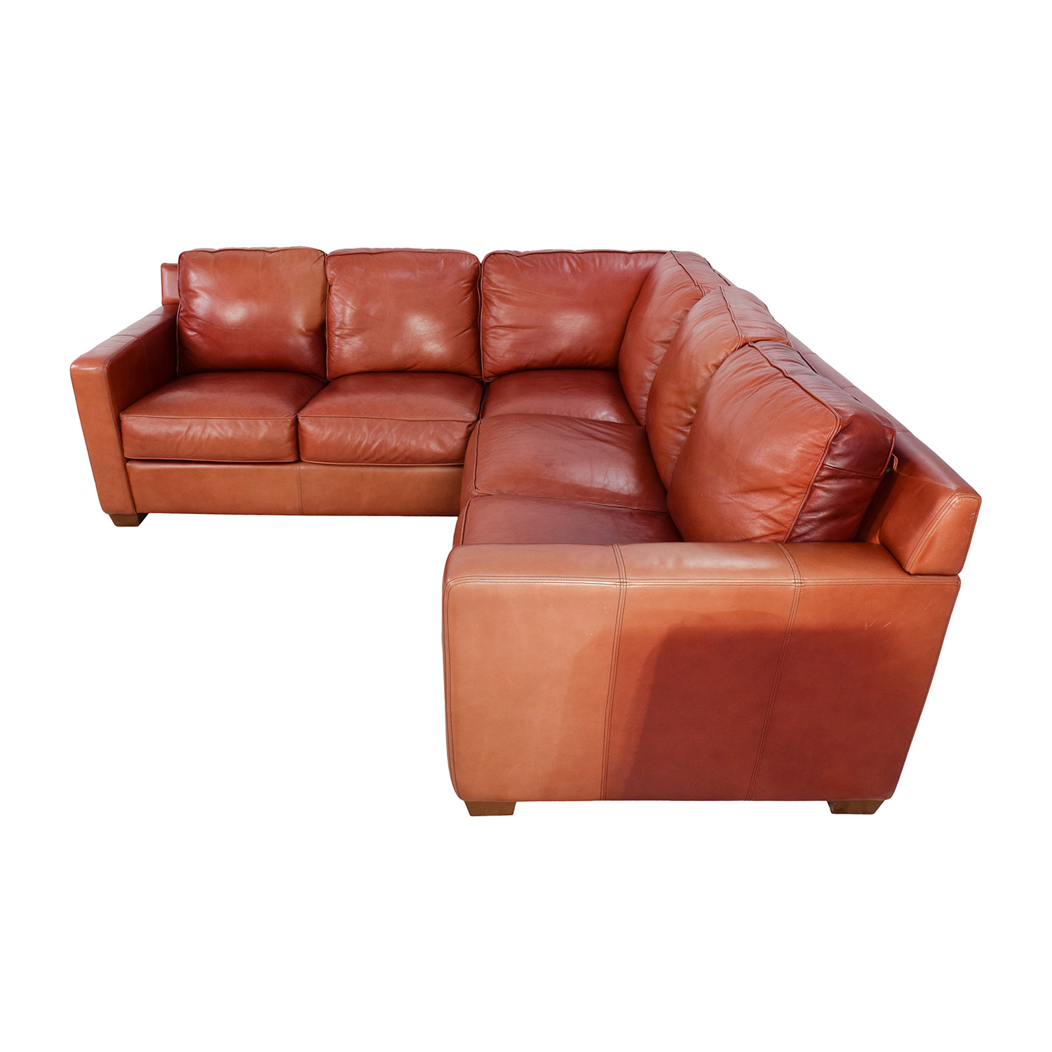... Thomasville Thomasville Red Leather Sectional Sectionals ...  sc 1 st  Furnishare : red leather sectional - Sectionals, Sofas & Couches