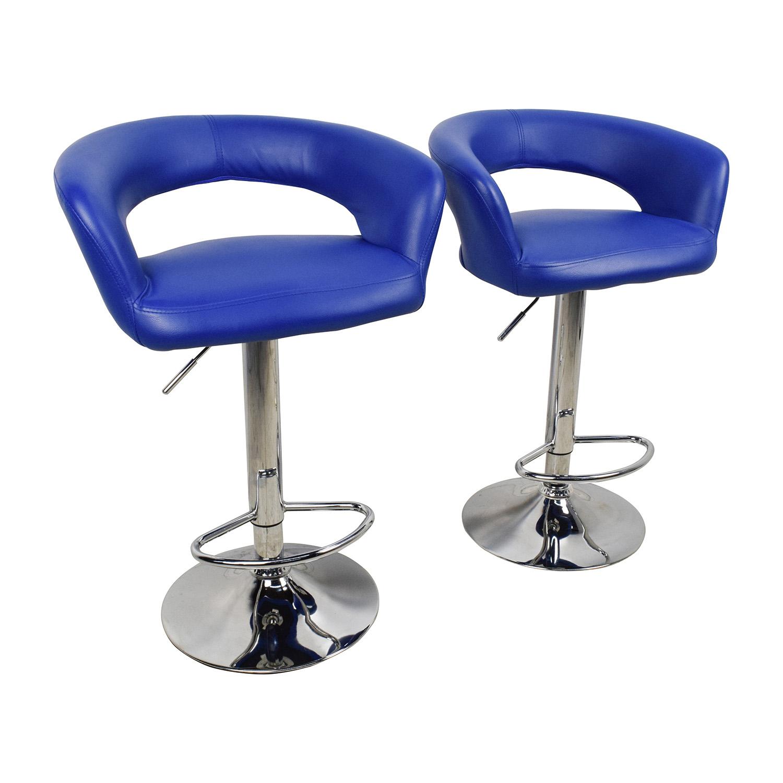 79 Off Allmodern All Modern Blue Leather Adjustable