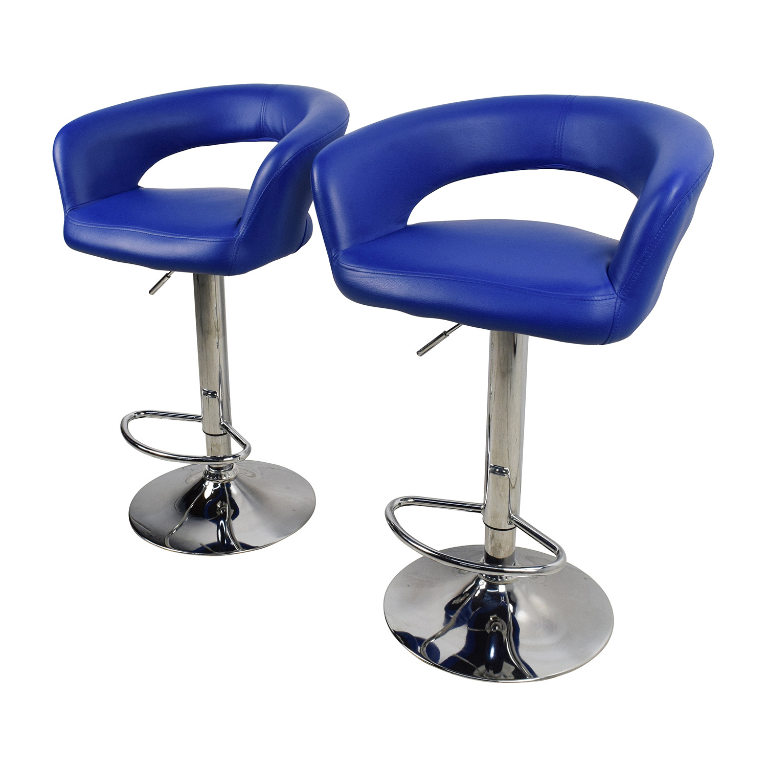 Beau ... Shop All Modern Blue Leather Adjustable Height Swivel Bar Stools All  Modern Chairs ...