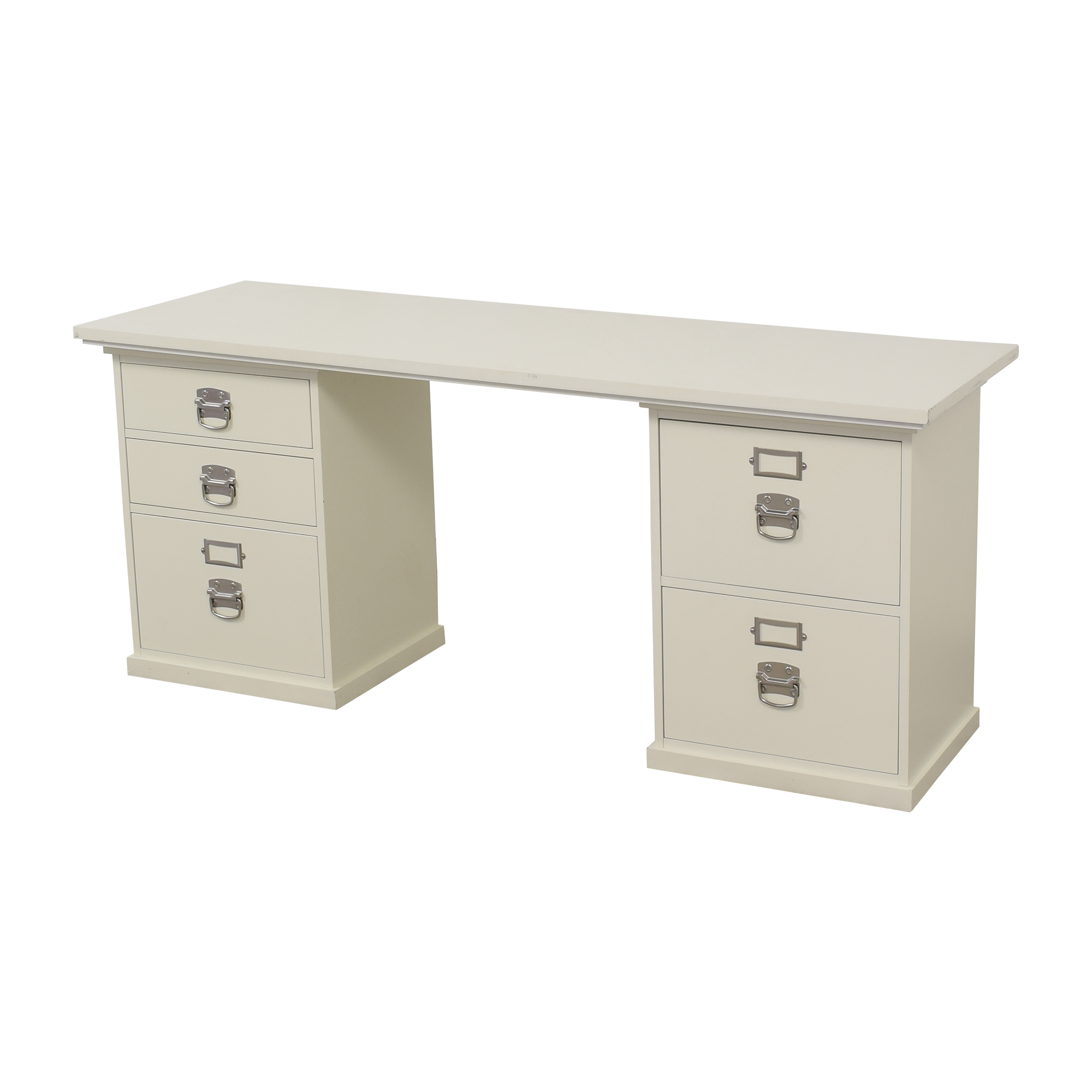 Pottery Barn Pottery Barn Bedford Desk with Five Drawers on sale