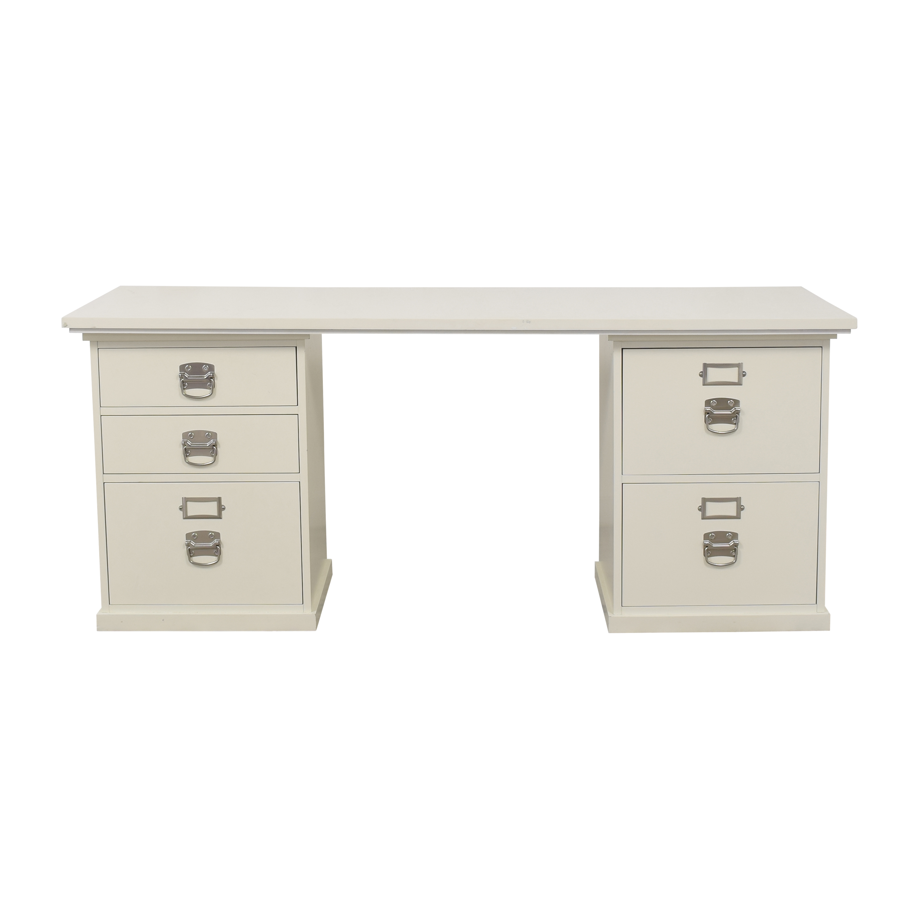 Pottery Barn Pottery Barn Bedford Desk with Five Drawers Home Office Desks