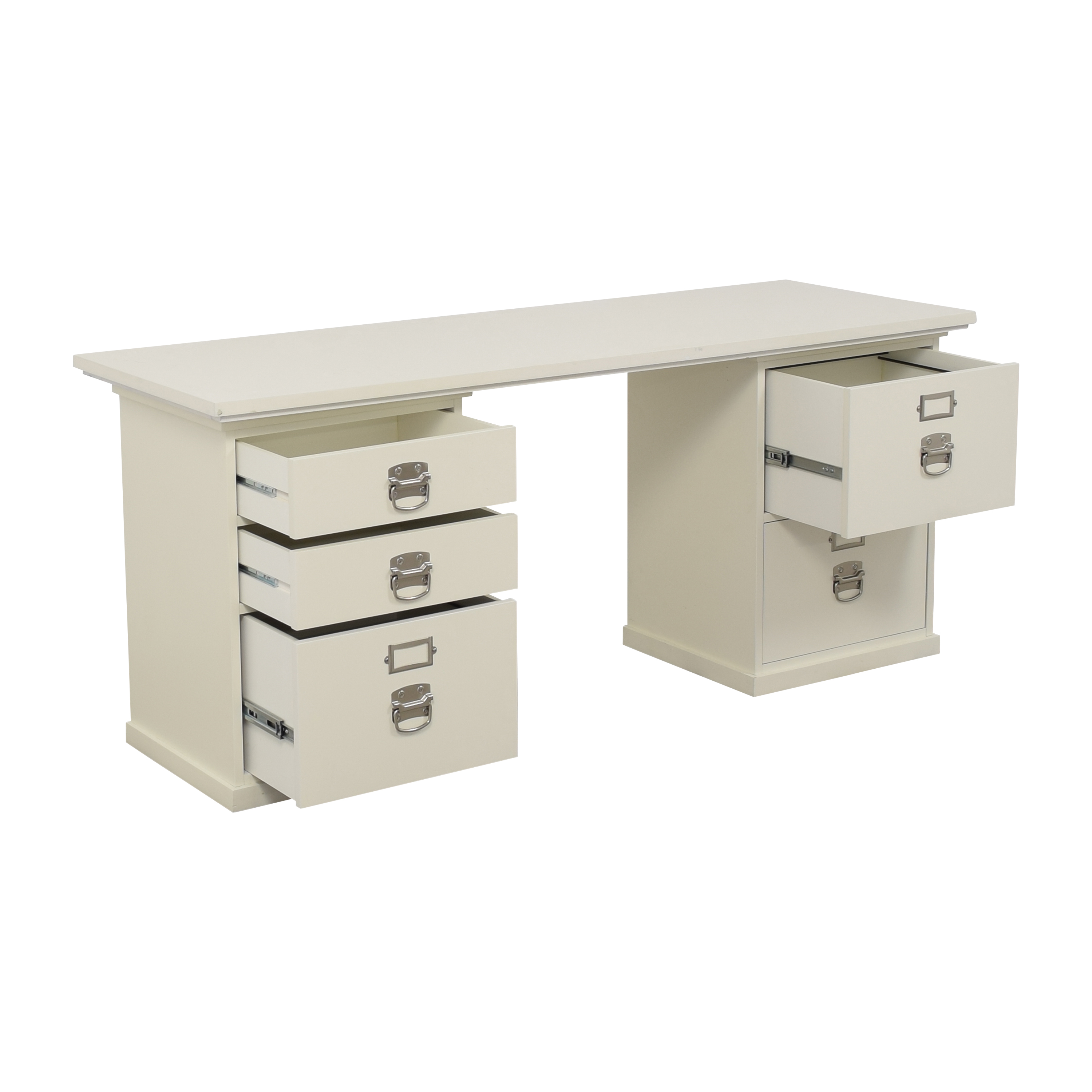 Pottery Barn Pottery Barn Bedford Desk with Five Drawers ct