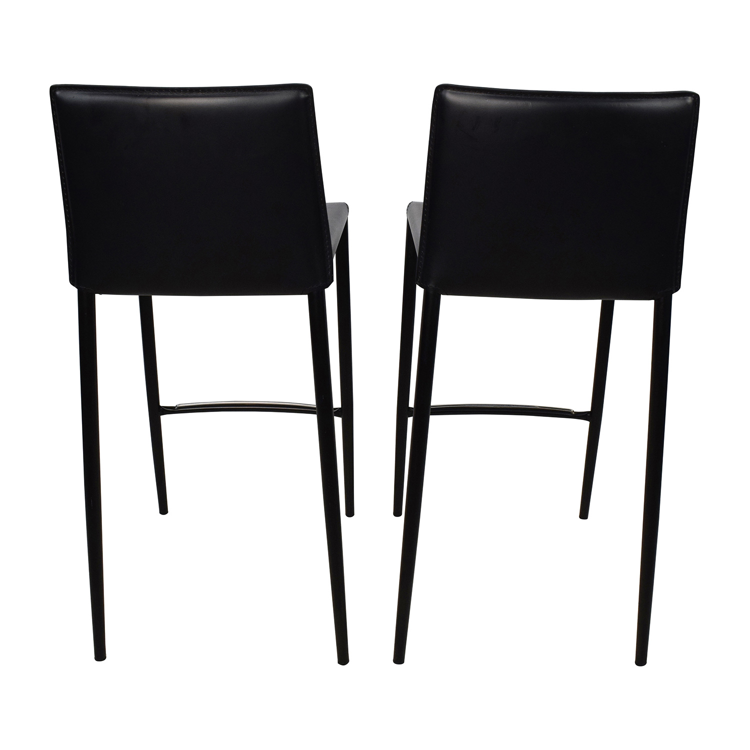 ... Buy Calligaris Calligaris Boheme Black Leather Bar Stool Set Online ...