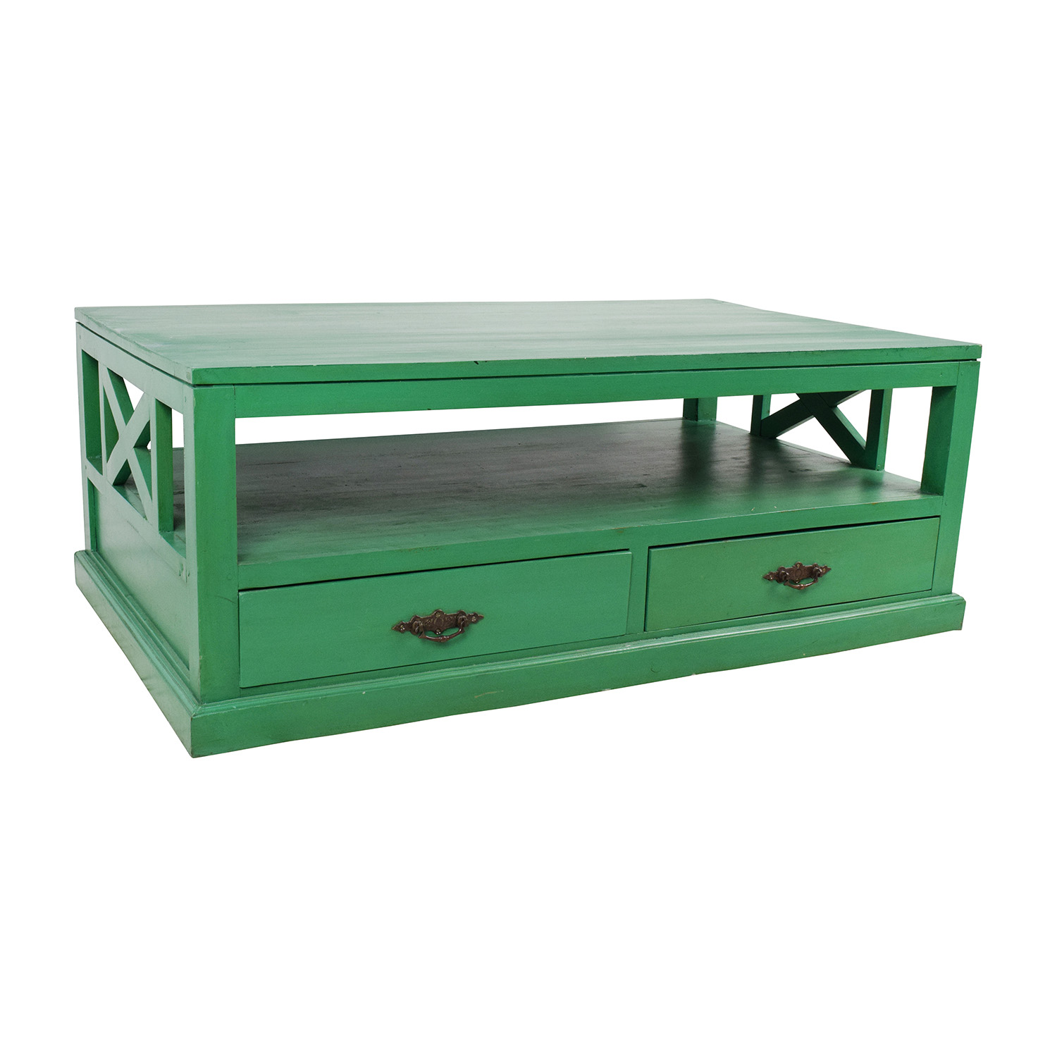 53 Off Nadeau Nadeau Handmade Green Coffee Table Tables