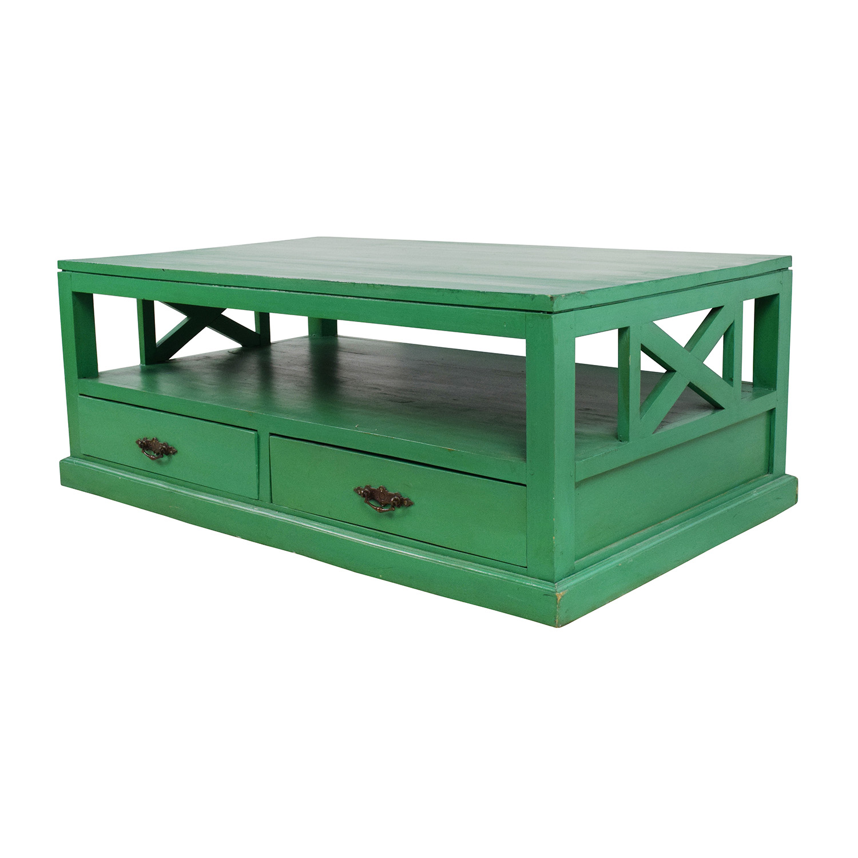 off  nadeau nadeau handmade green coffee table  tables -  shop nadeau handmade green coffee table nadeau