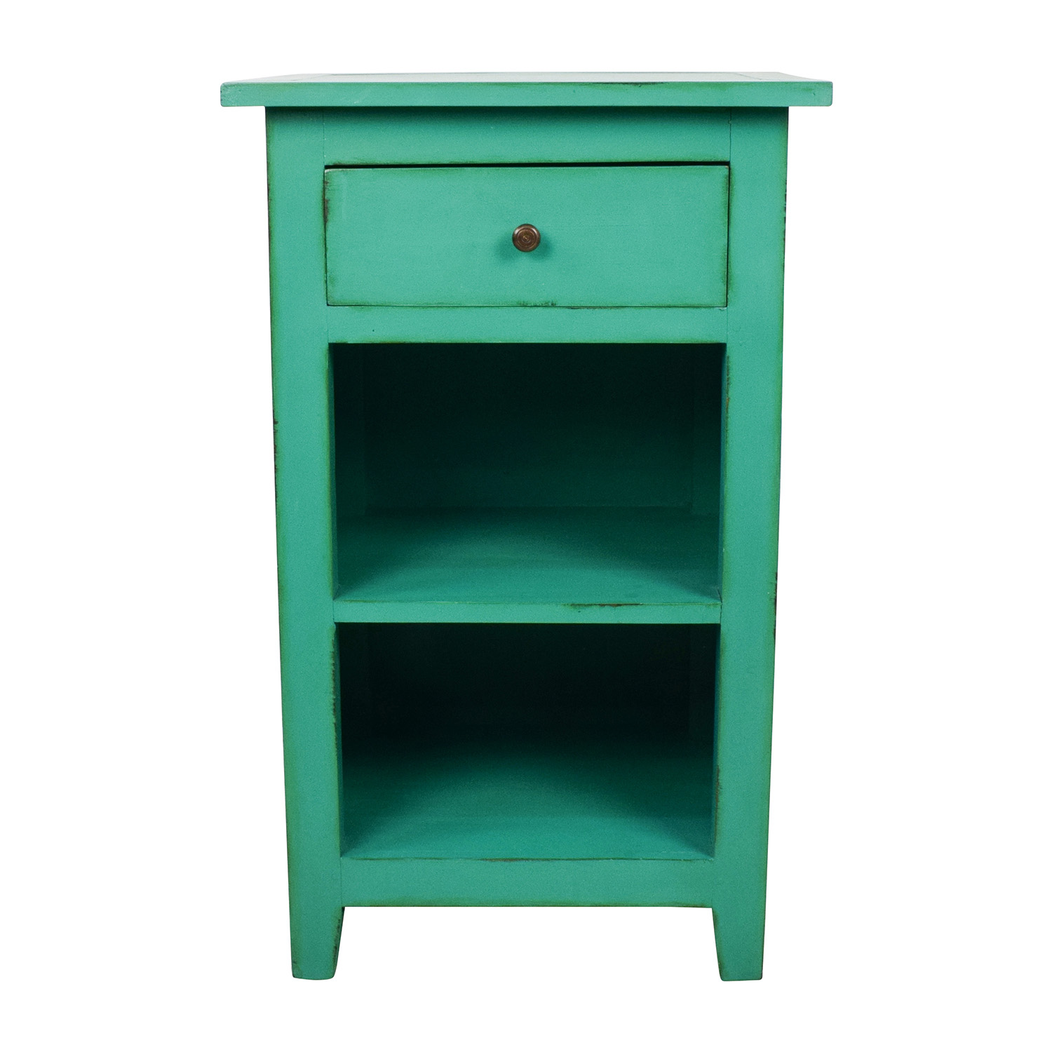 Nadeau Nadeau Rustic Green Nightstand Tables
