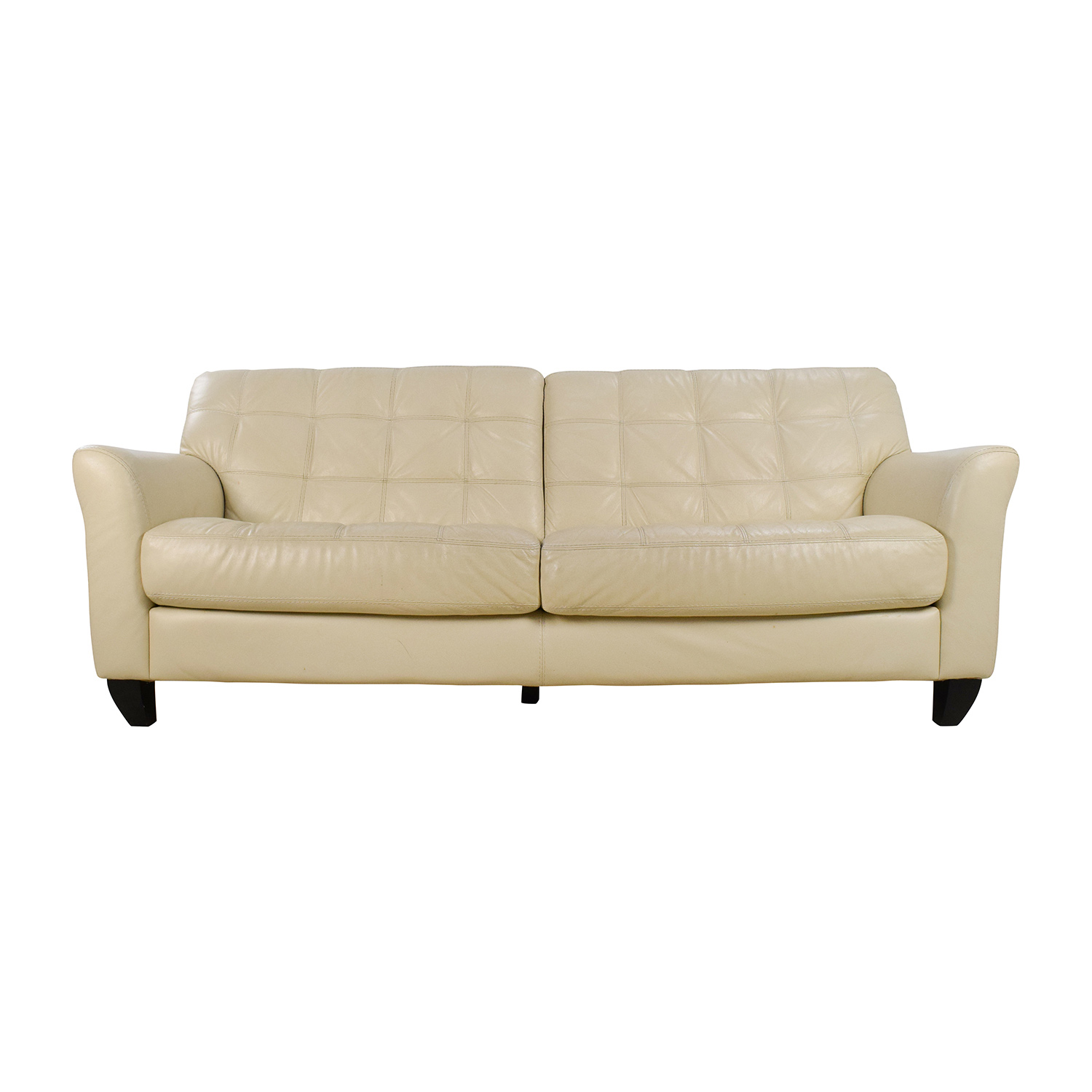 34 Off Raymour And Flanigan Raymour Flanigan Bryant - leather sofa traditional white