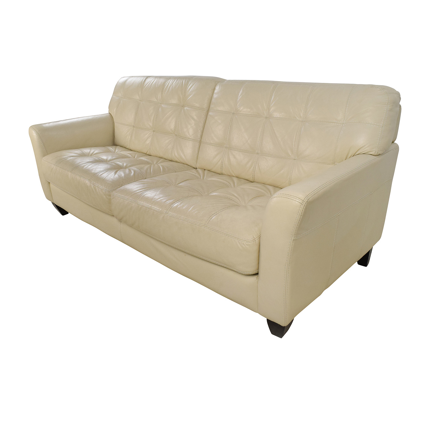 68 Off Macy S Macy S Milan White Leather Couch Sofas