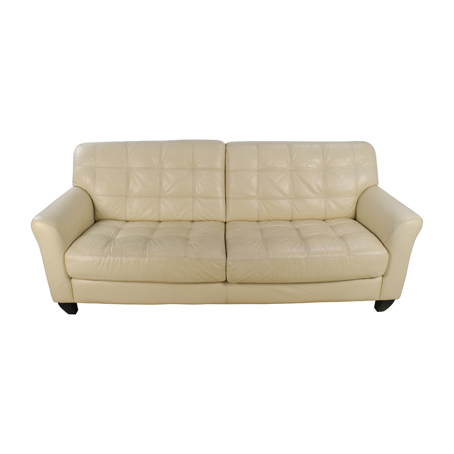 68 Off Macy 39 S Macy 39 S Milan White Leather Couch Sofas